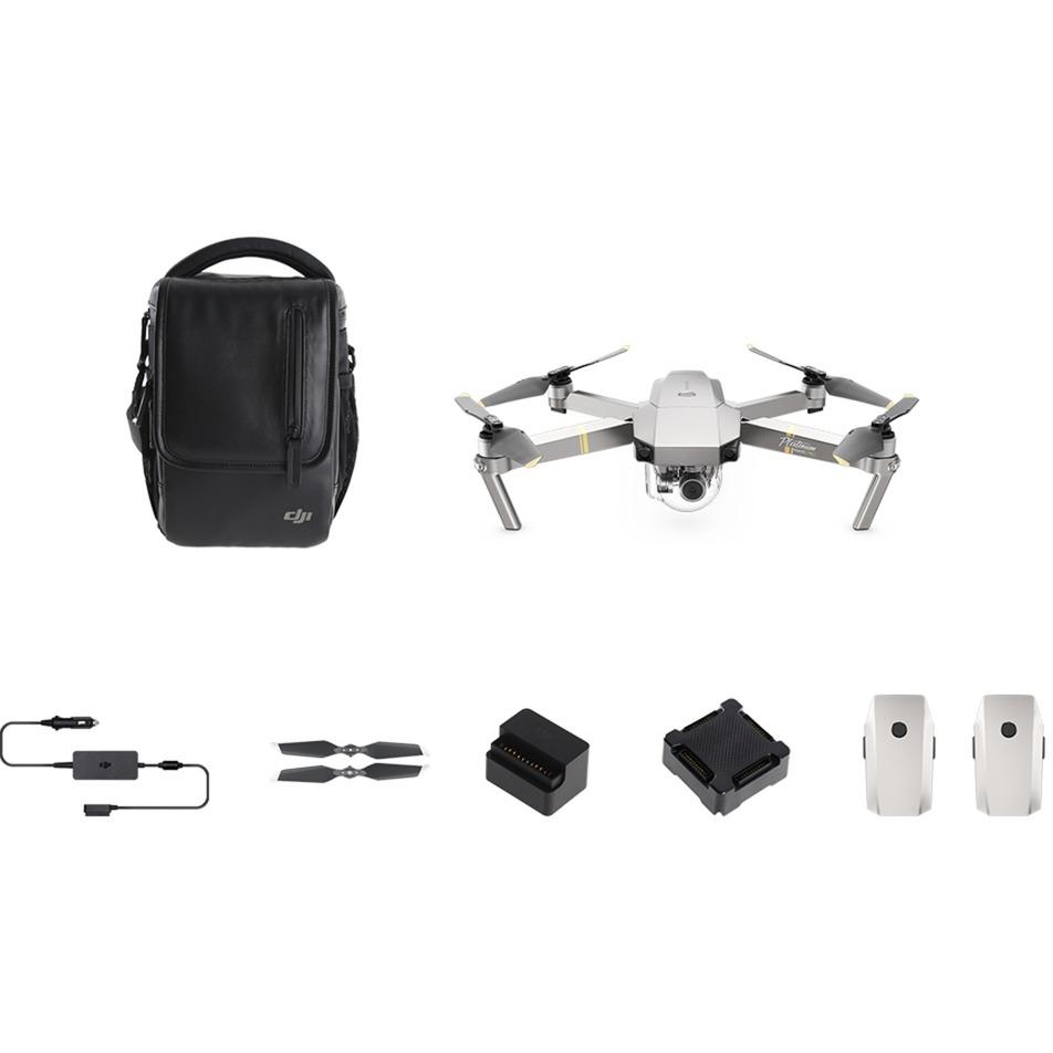 Mavic Pro Platinum Fly More Combo Quadcoptère 12.71MP 4096 x 2160pixels 3830mAh Noir, Argent, Acier inoxydable caméra drone