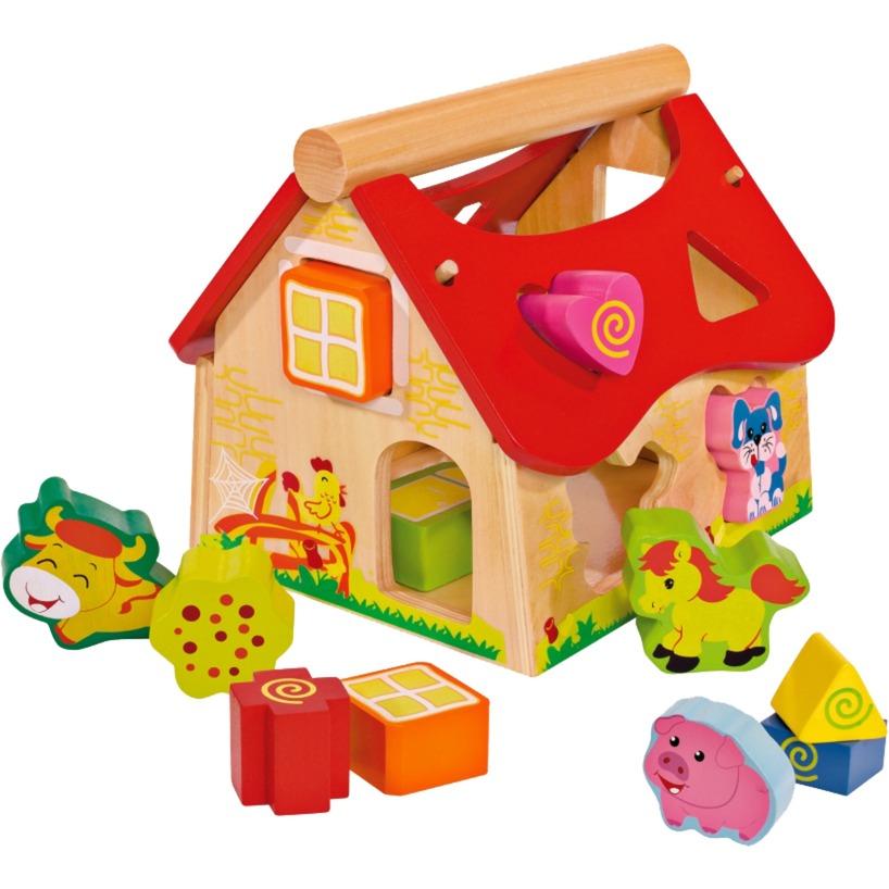 Maison à tri de forme en ferme, Jeu d'adresse