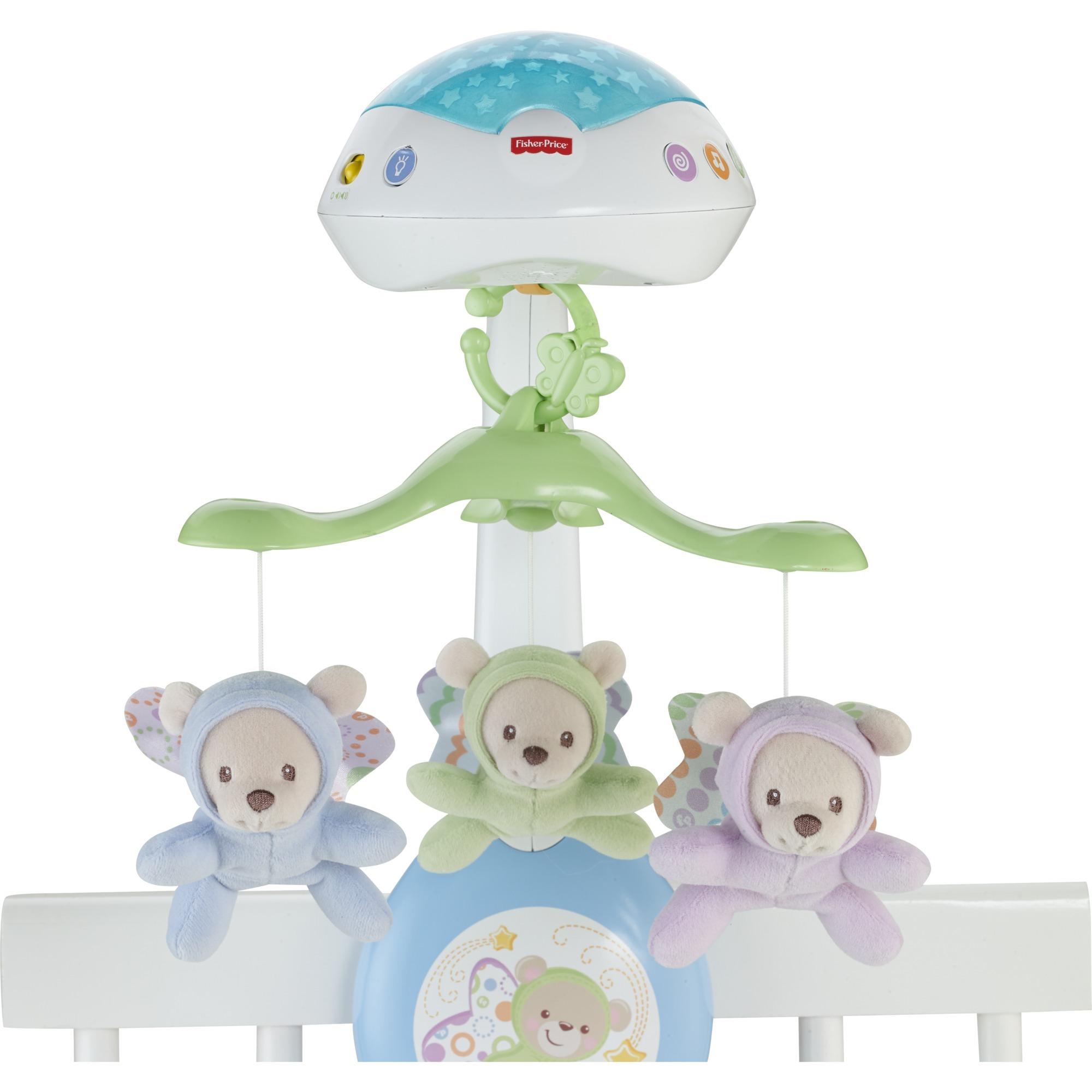 Tout pour les bébés Butterfly Dreams 3-in-1 Projection Mobile Multicolore jouet pour bébé accroché, lumière de nuit