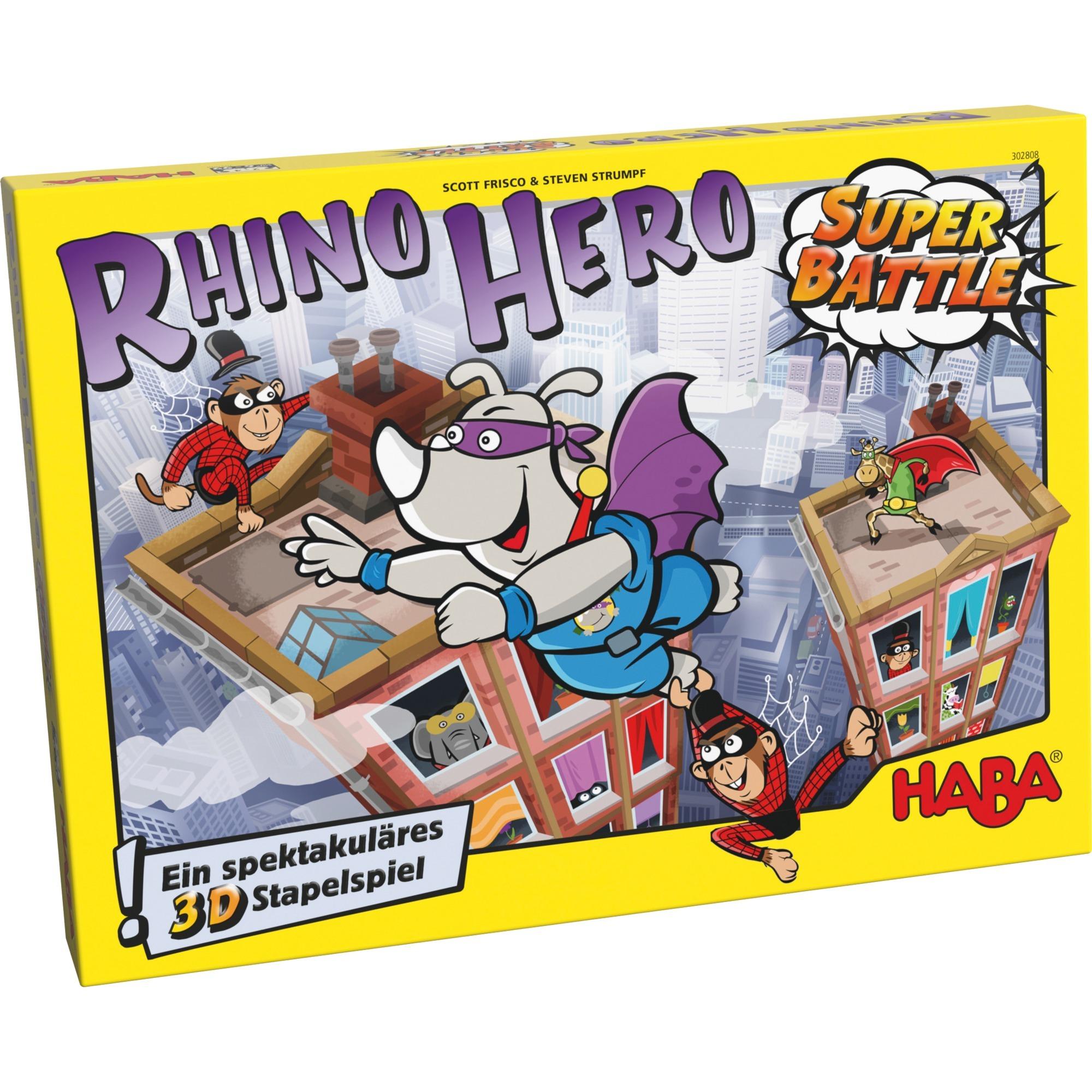 Rhino Hero – Super Battle Enfants et adultes Jeu de compétences motrices fines, Jeu d'adresse