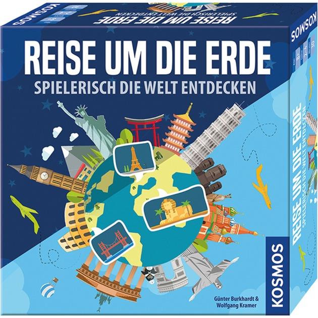 Reise um die Erde Spielerisch die Welt entdecken Enfants et adultes Voyage/aventure, Jeu de table
