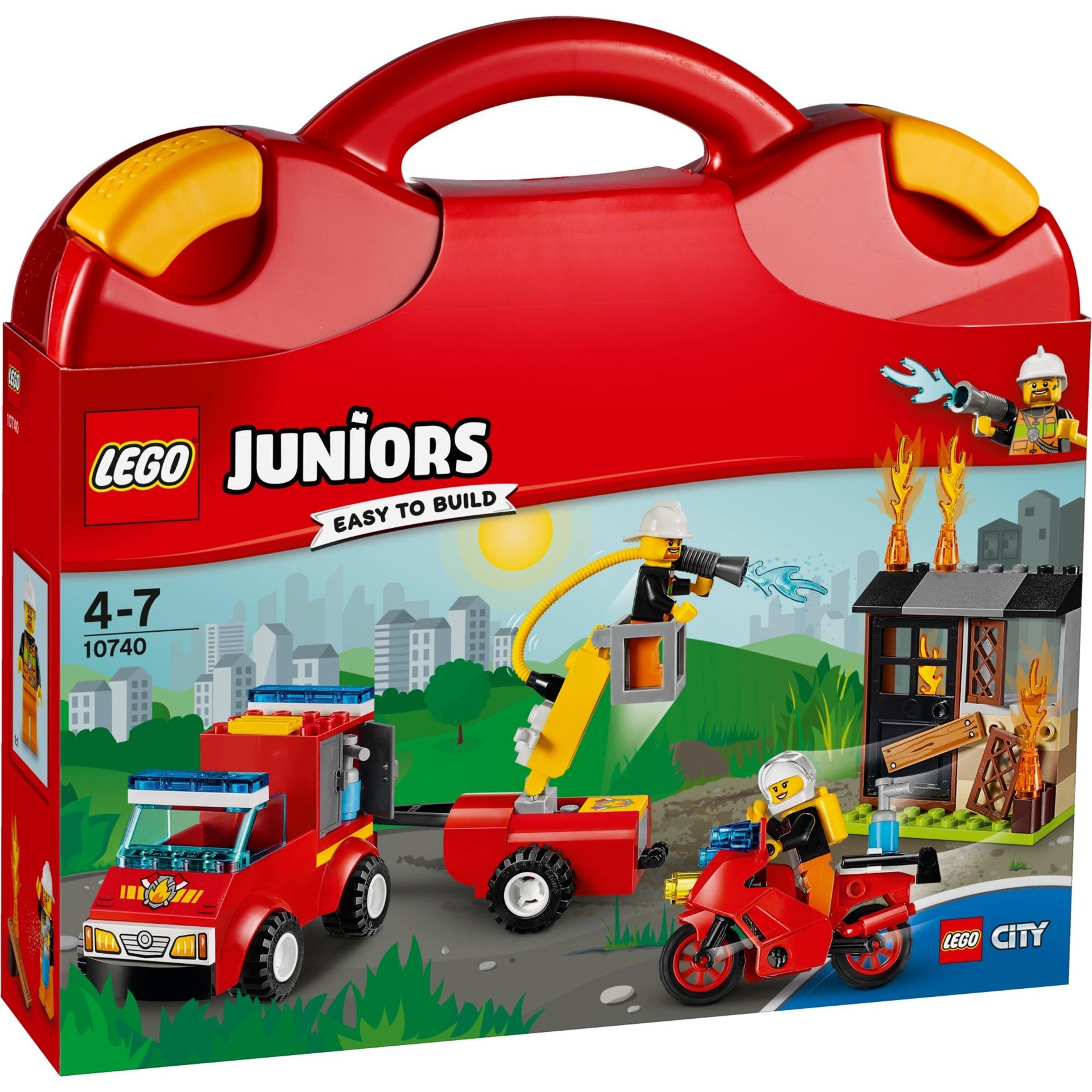Juniors - La Valise La Patrouille de Surveillance Incendie, Jouets de construction