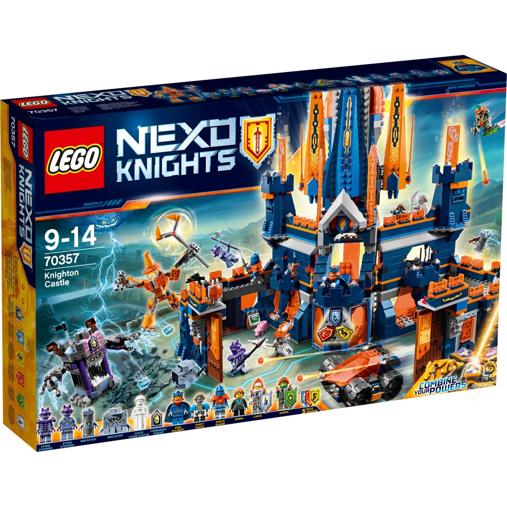 Nexo Knights - Le Château de Knighton, Jouets de construction