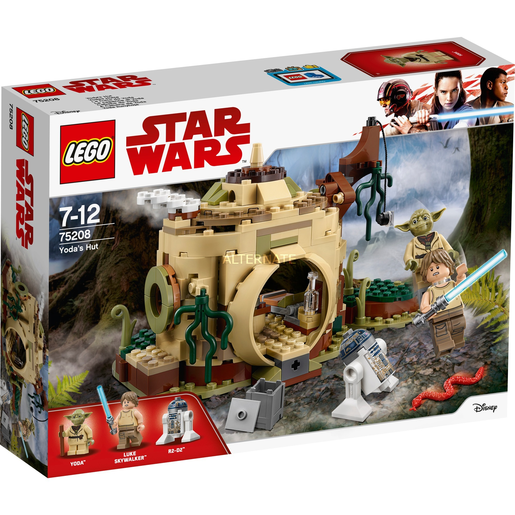 STAR WARS 75208 La hutte de Yoda, Jouets de construction