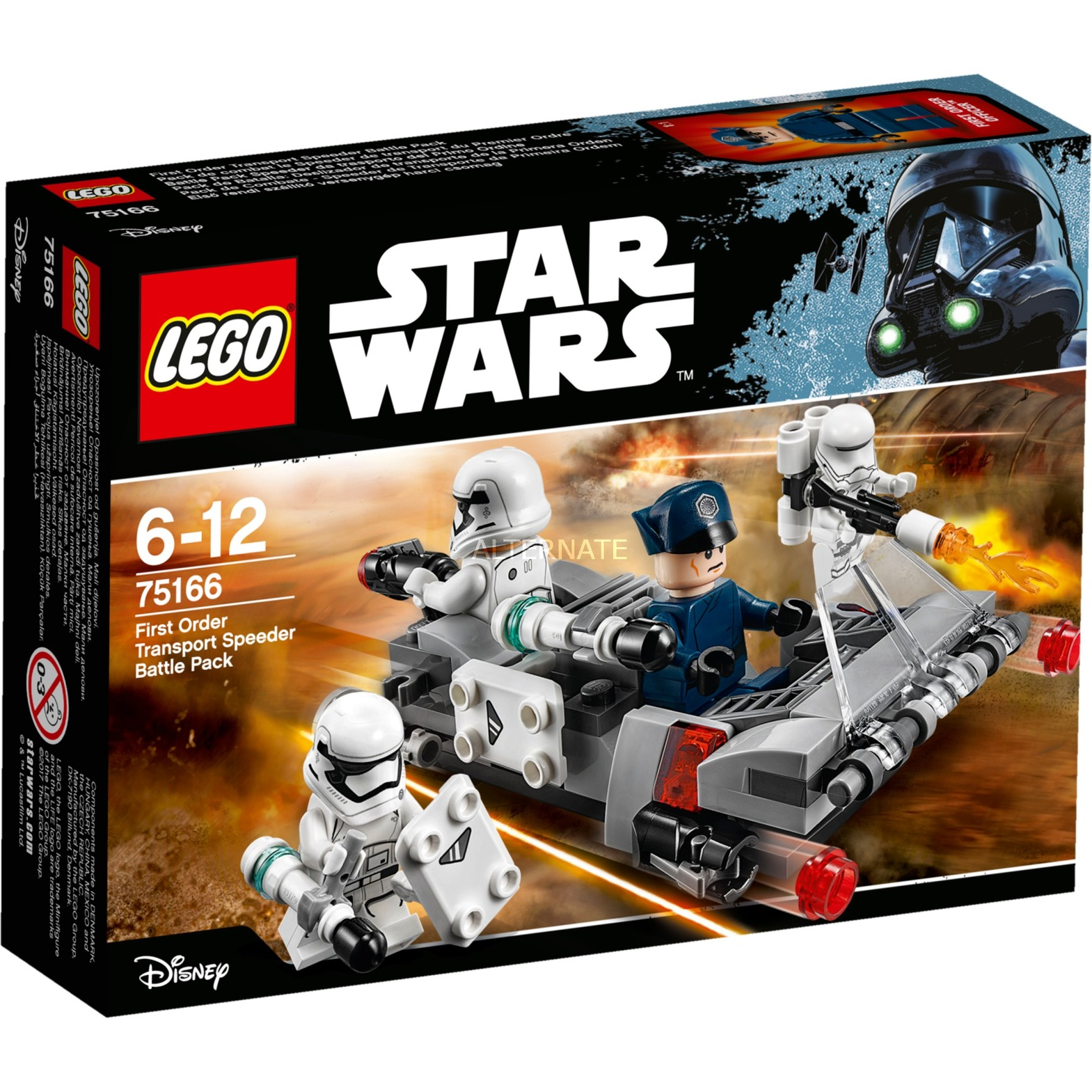 Star Wars - Pack de combat le Speeder de transport du Premier Ordre, Jouets de construction