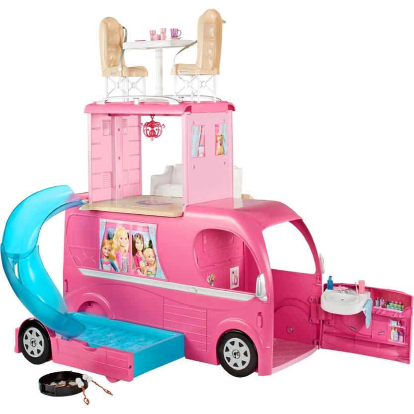 Barbie - Camping Car Duplex, Modèle réduit de voiture