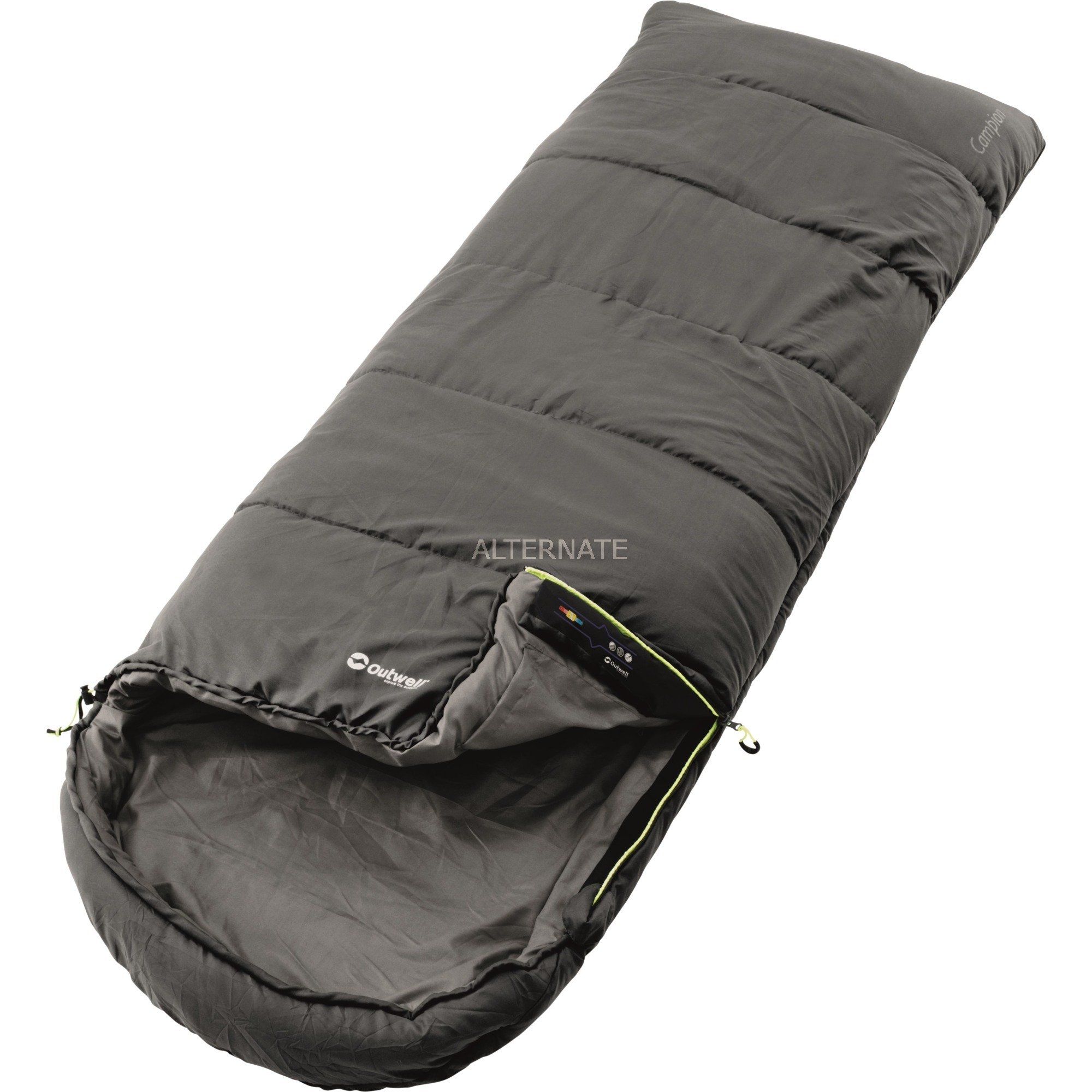 Campion Adultes Rectangular sleeping bag Polyester Noir, Sac de couchage