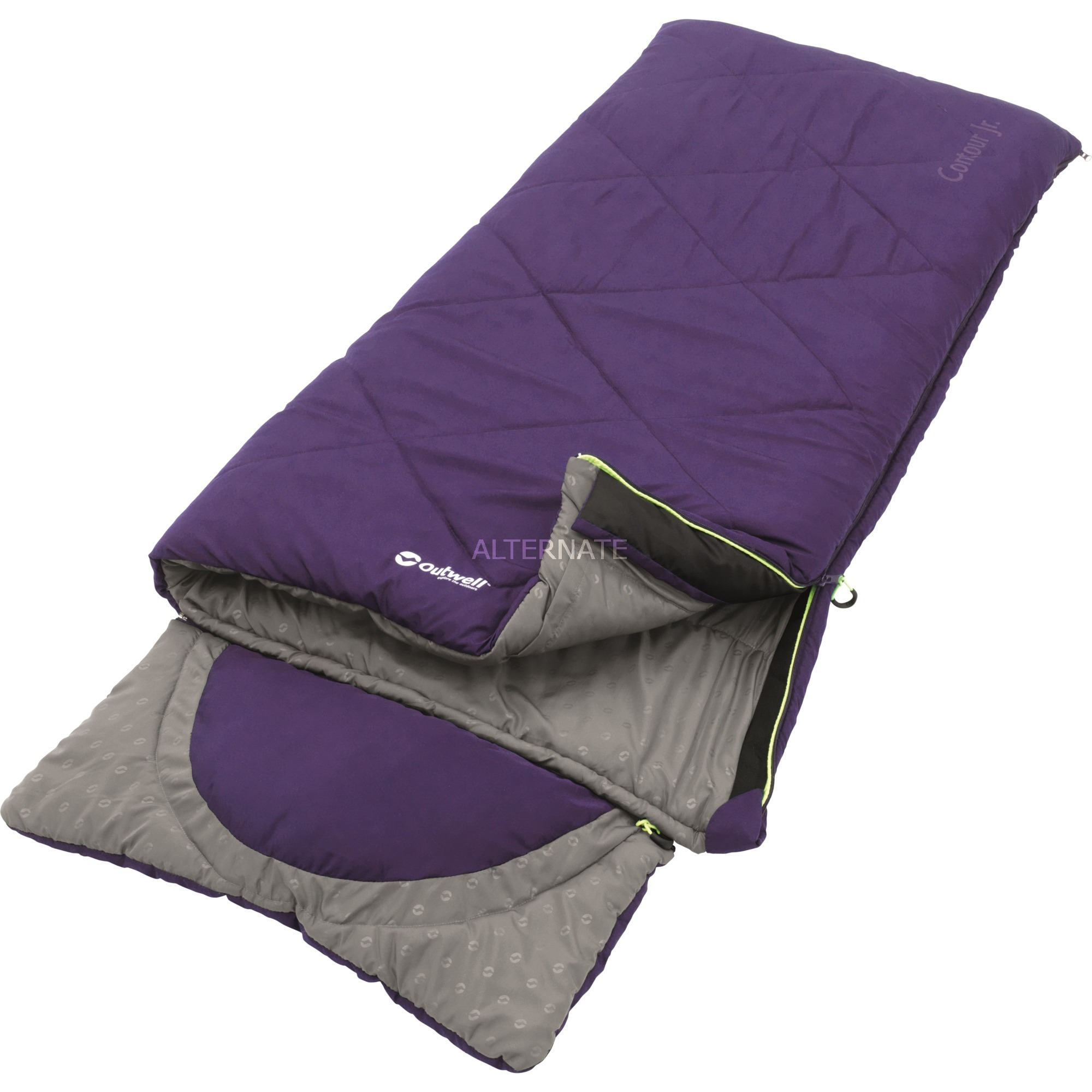Contour Junior Enfants Rectangular sleeping bag Microfibre,Polyester Violet, Sac de couchage