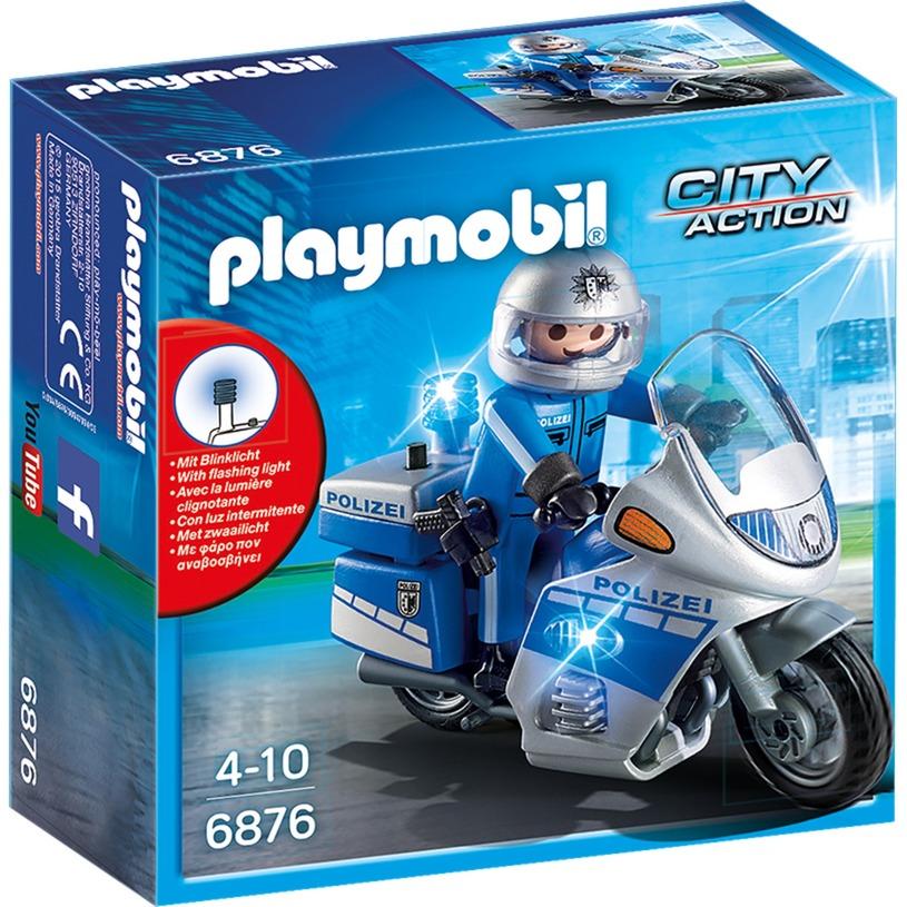 City Action - Police Patrouille avec Motocycle, Jouets de construction