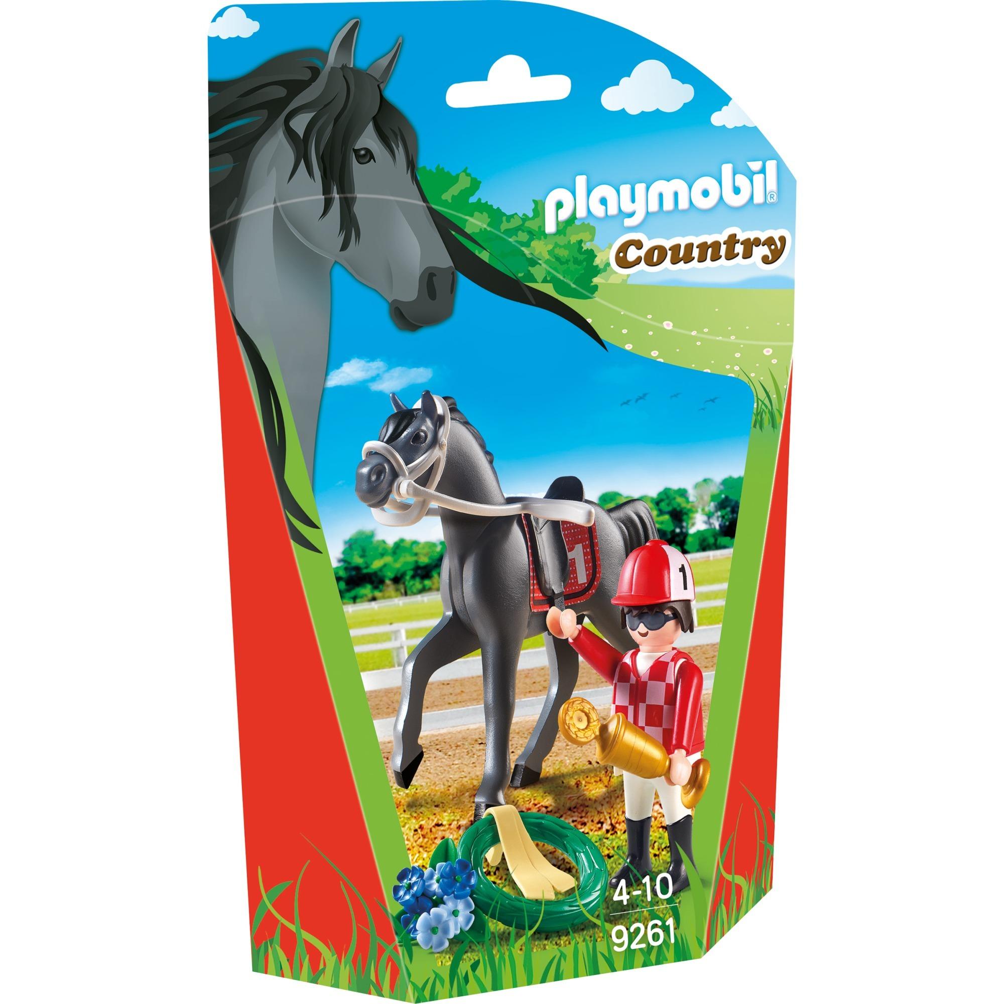 Country - Jockey avec cheval de course, Jouets de construction