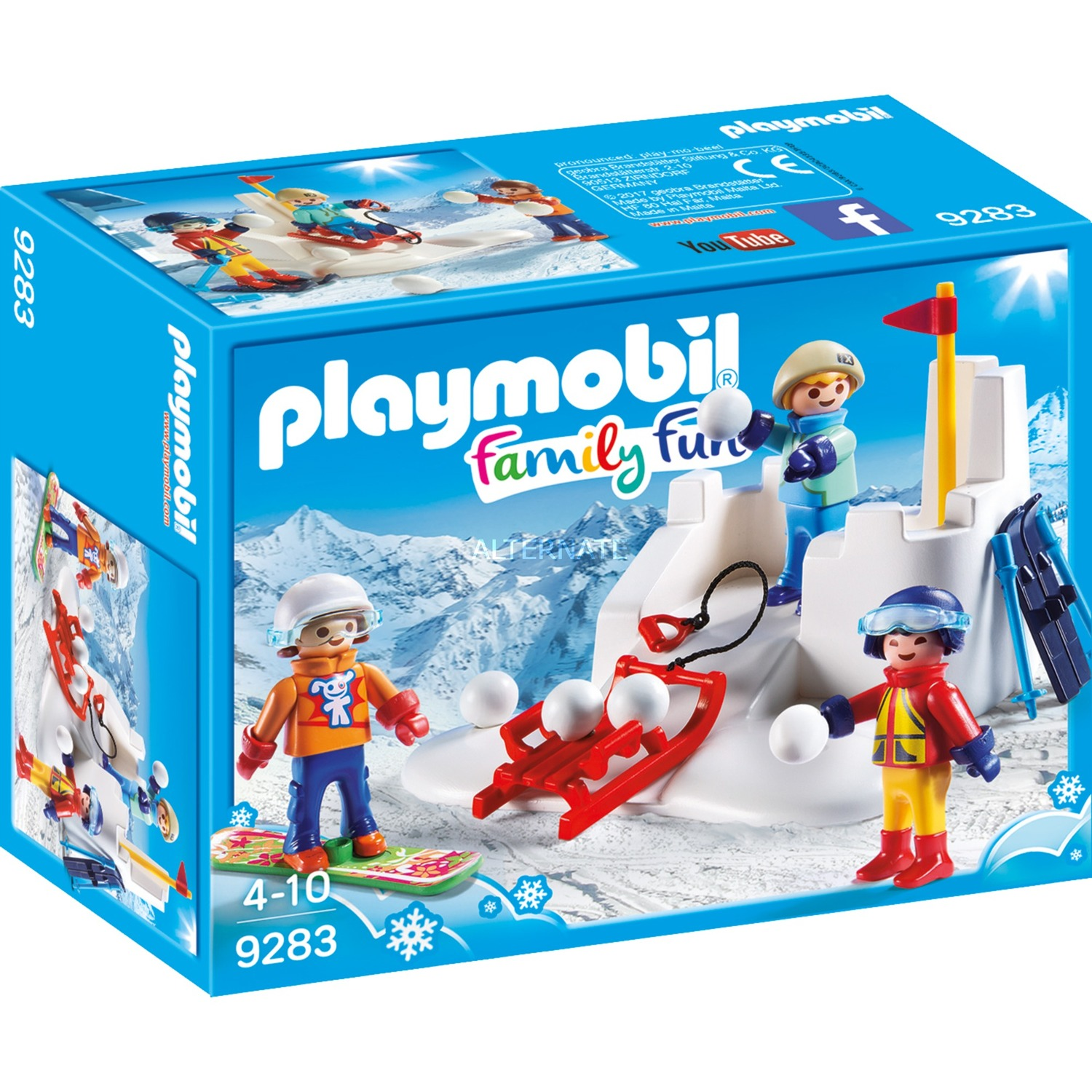 playmobil familyfun 9283 garonfille coffret de figurines jouets de construction 4 annes garonfille bleu orange rouge blanc jaune - Play Mobile Fille