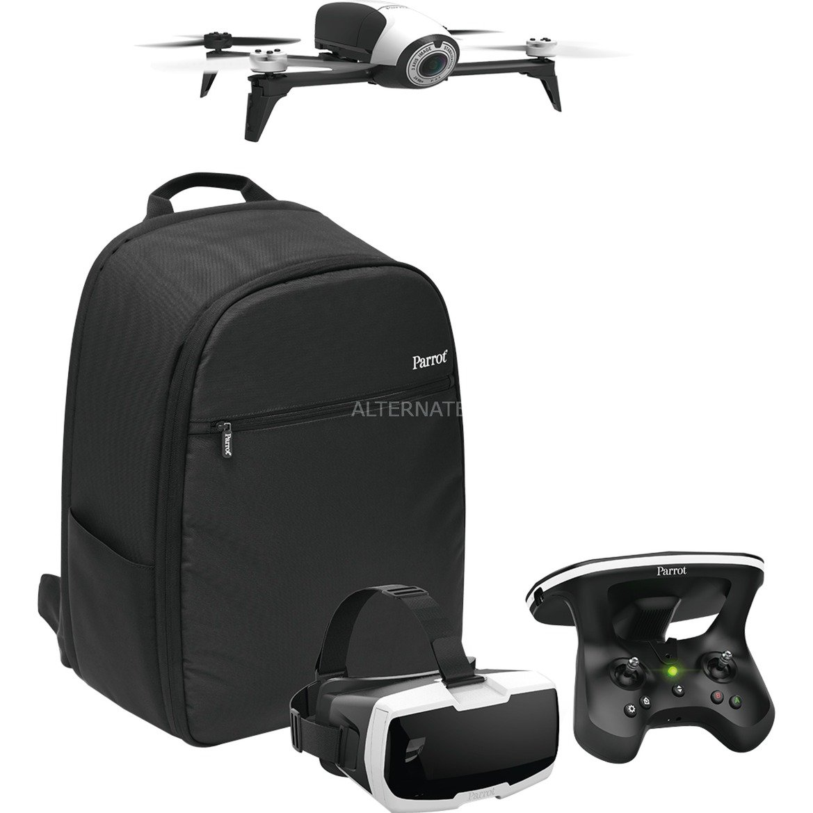 Bebop 2 Adventurer 4rotors 14MP 1920 x 1080pixels 2700mAh Noir, Blanc caméra drone