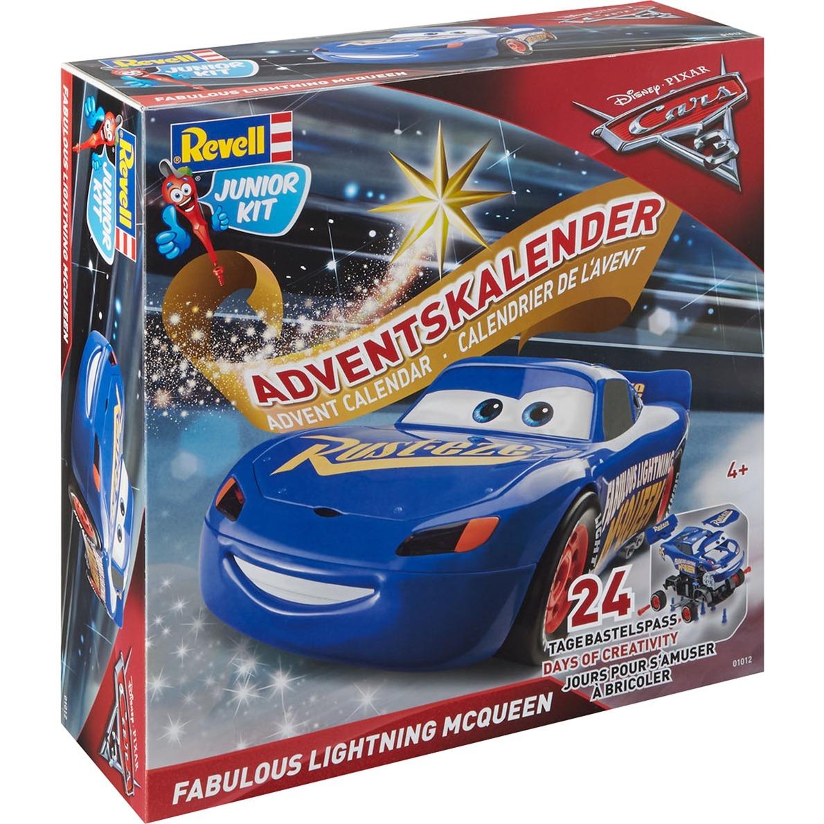 Advent Calendar Lightning McQueen Kit de montage Modèle de voiture classique 1:20, Modélisme