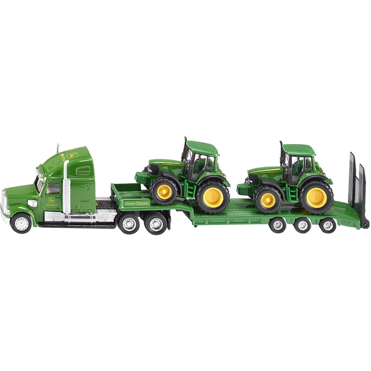 Véhicule sans piles - camion avec tracteur john deere - 1,87 ème - Métal, Modèle réduit de voiture
