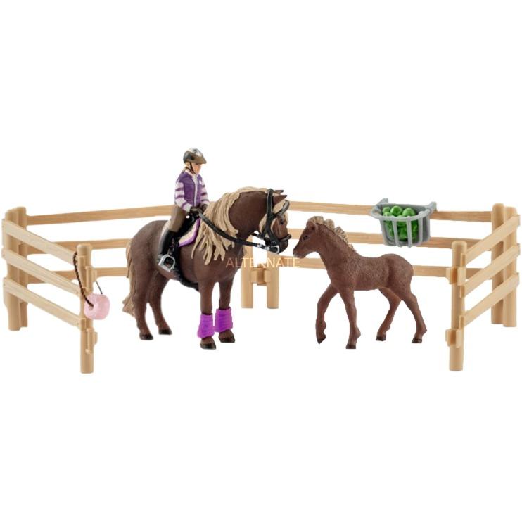 Cavalier avec poneys islandais, Figurine