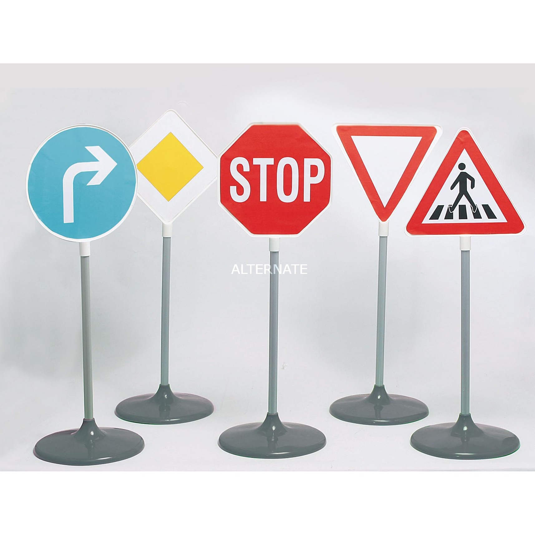 Initiation Sécurité Routière - 5 Panneaux de Signalisation, Set A, Jeux de jardin