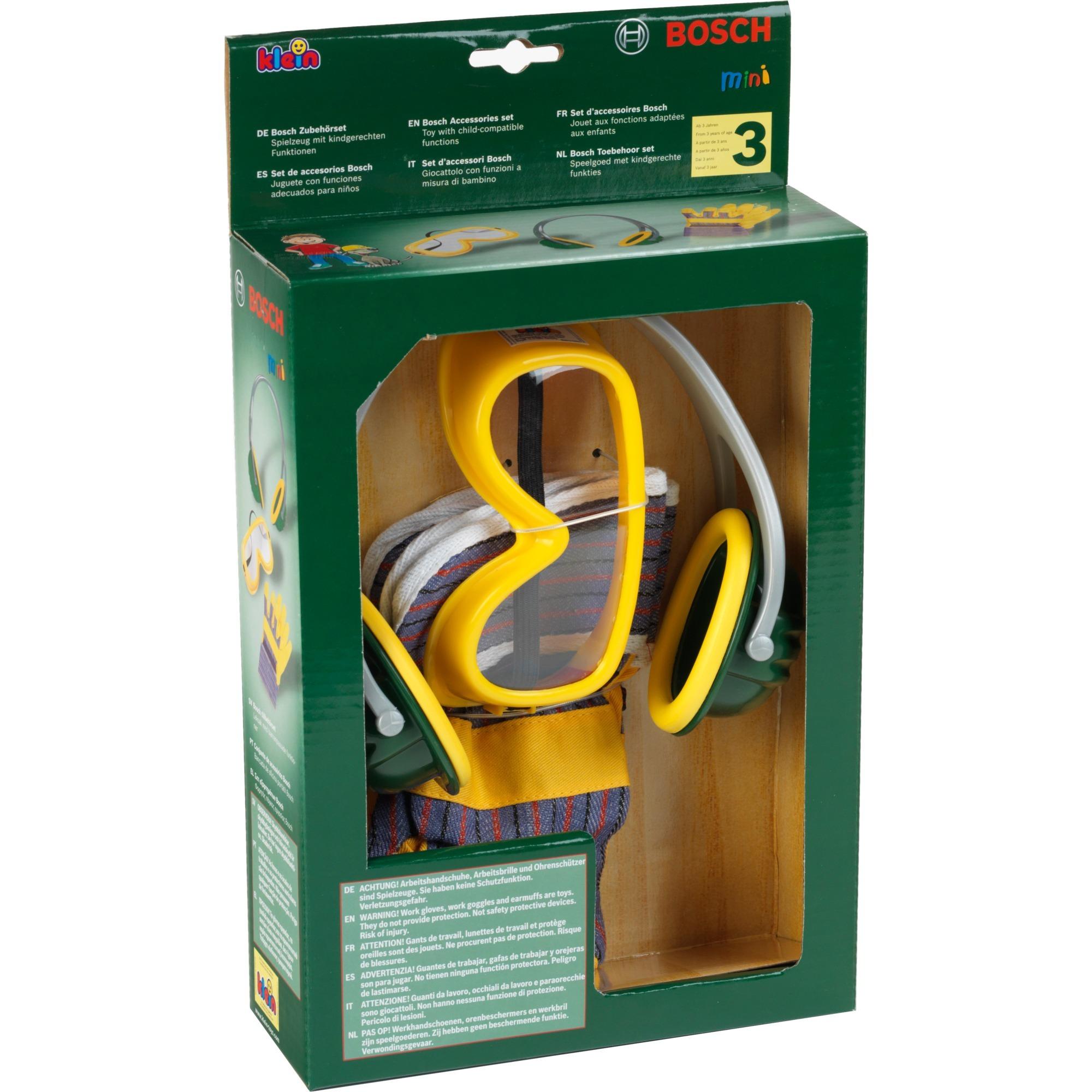 Jeu d'imitation - Set d'accessoires Bosch, 3 pièces, Outils pour enfants