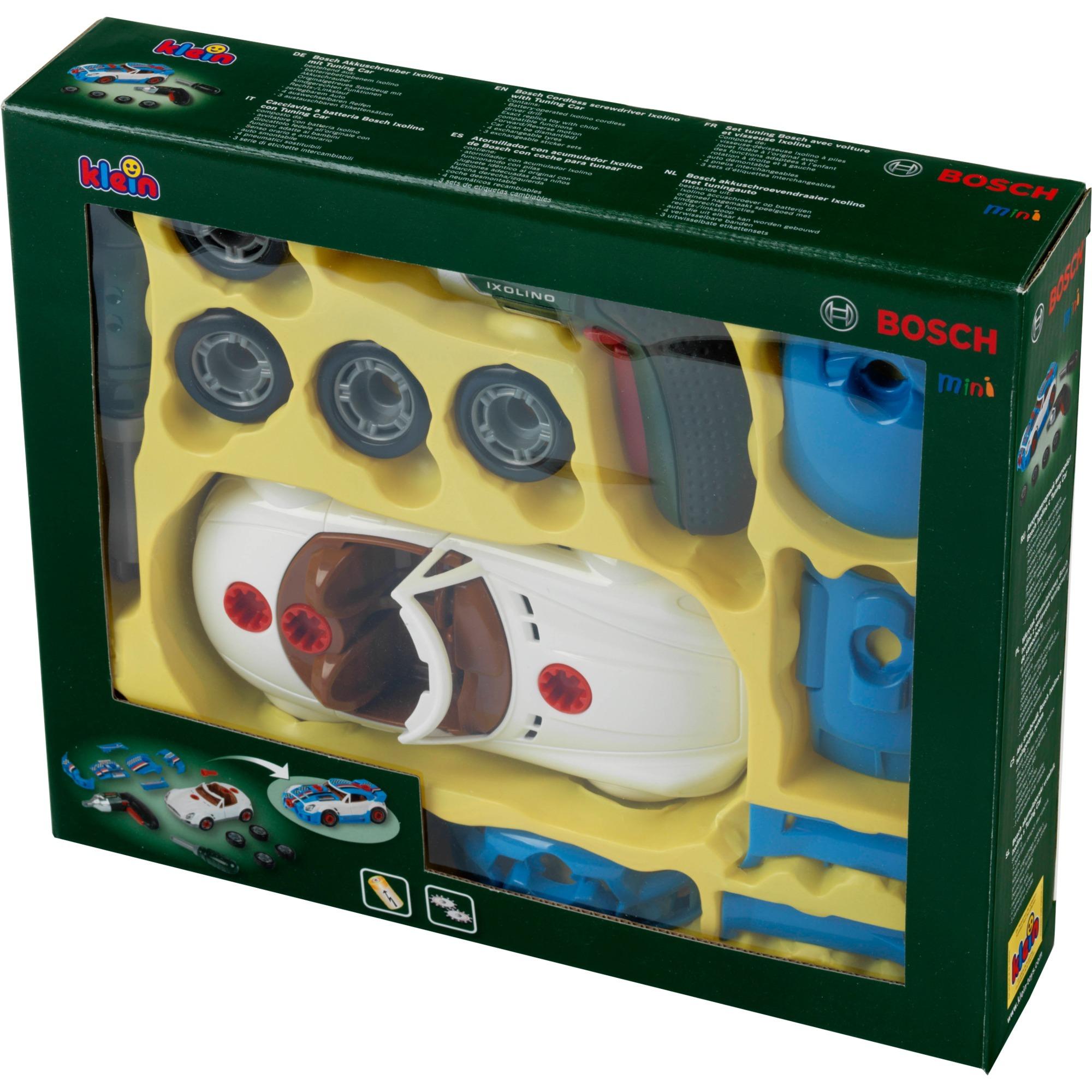 Jeu d'imitation - Set de tuning Bosch avec visseuse Ixolino, Outils pour enfants