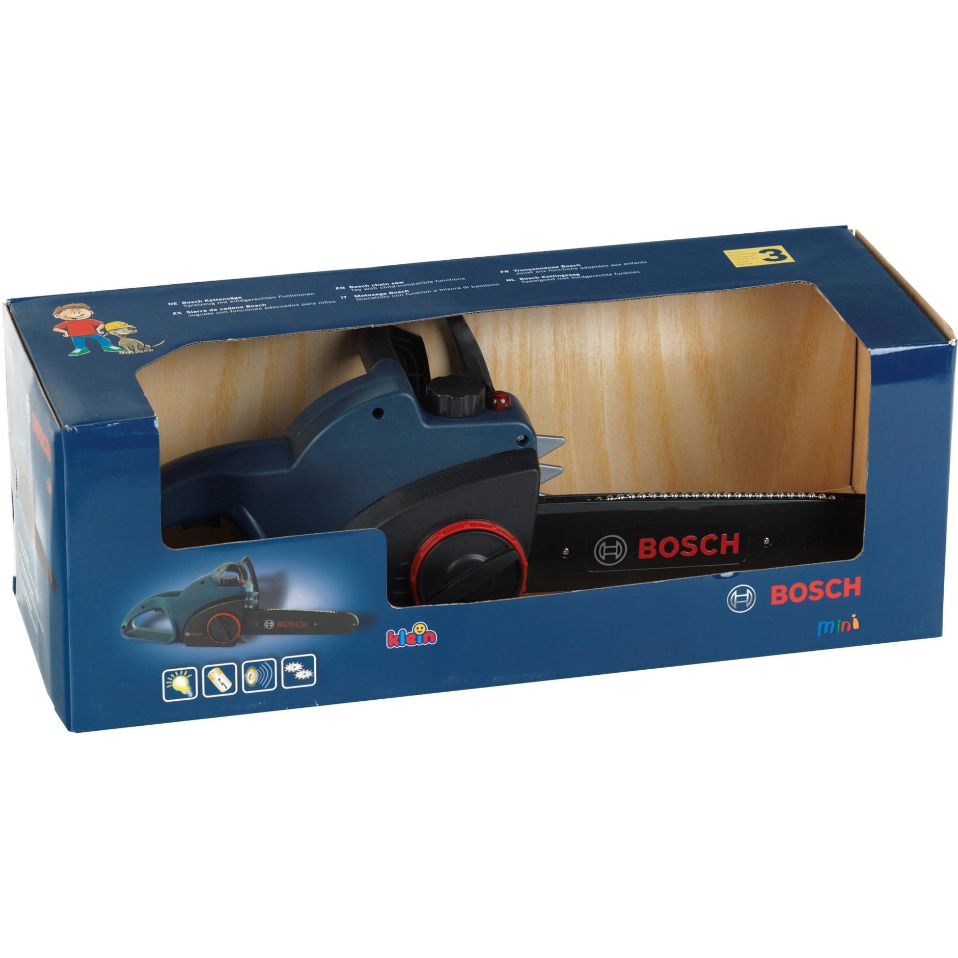 Jeu d'imitation - Tronçonneuse Bosch Blue Line avec fonctions réalistes, Outils pour enfants