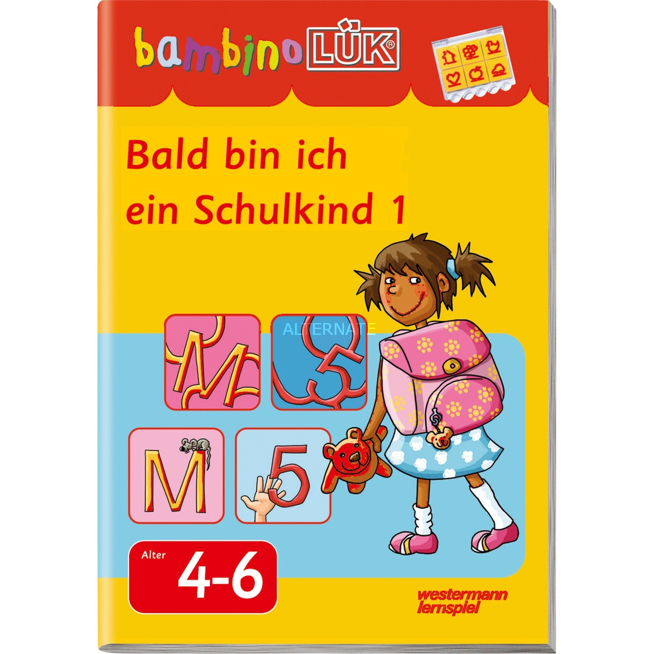 Bald bin ich ein Schulkind 1 livre pour enfants, Manuel