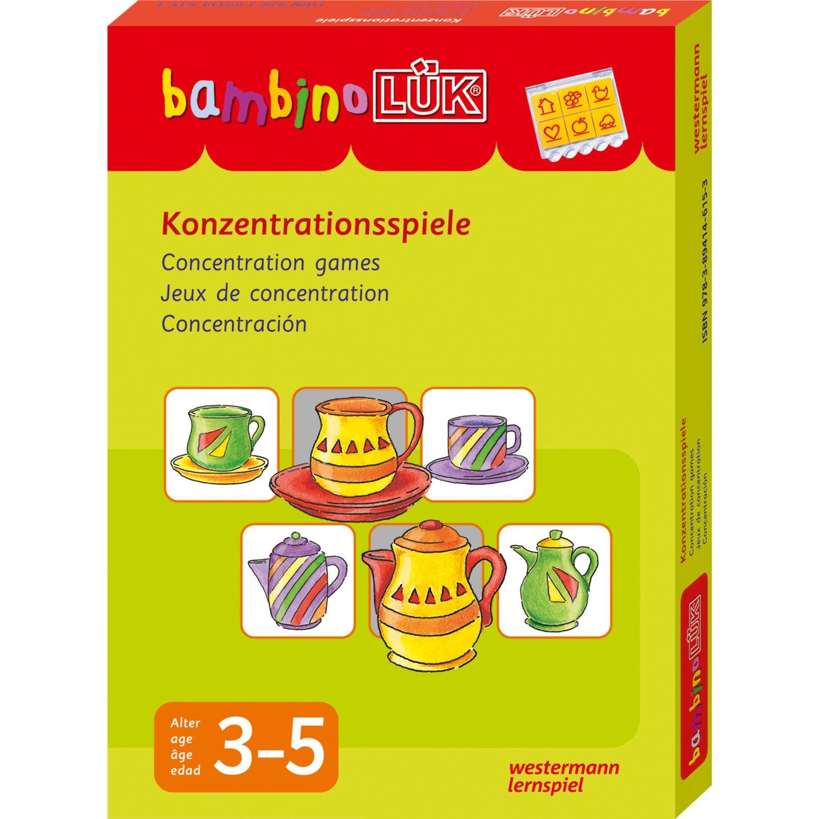 Bambino-Set Konzentrationsspiele livre pour enfants, Manuel