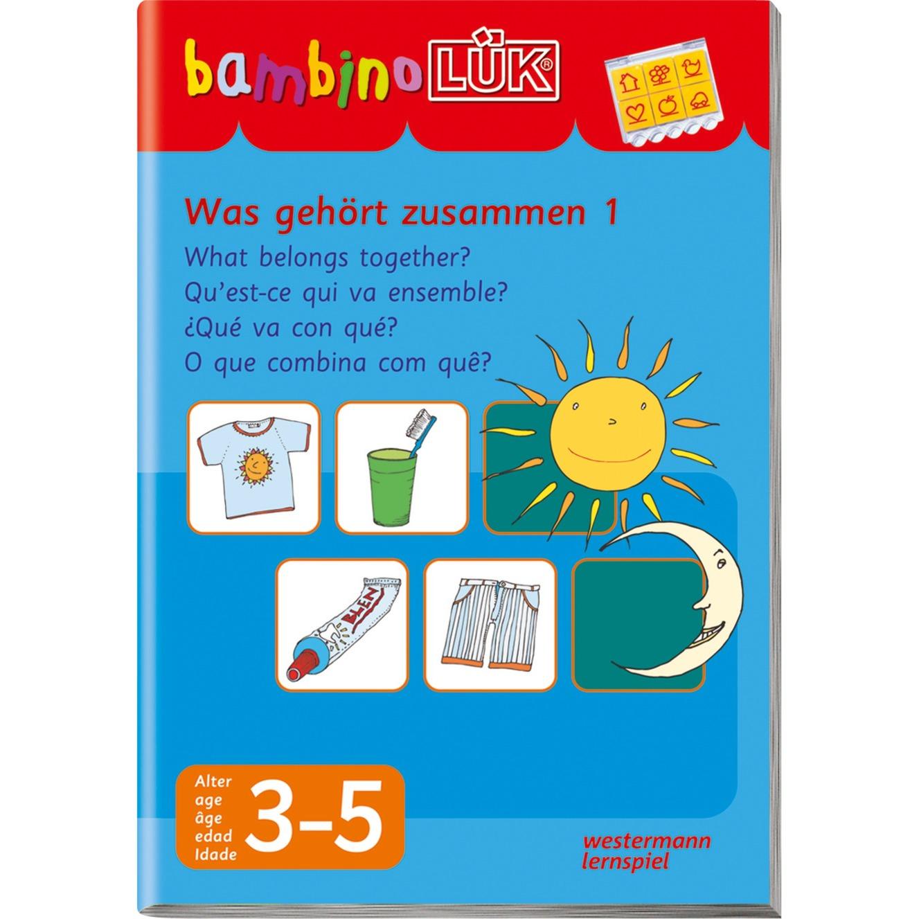 Bambino Was gehört zusammen 1 livre pour enfants, Manuel