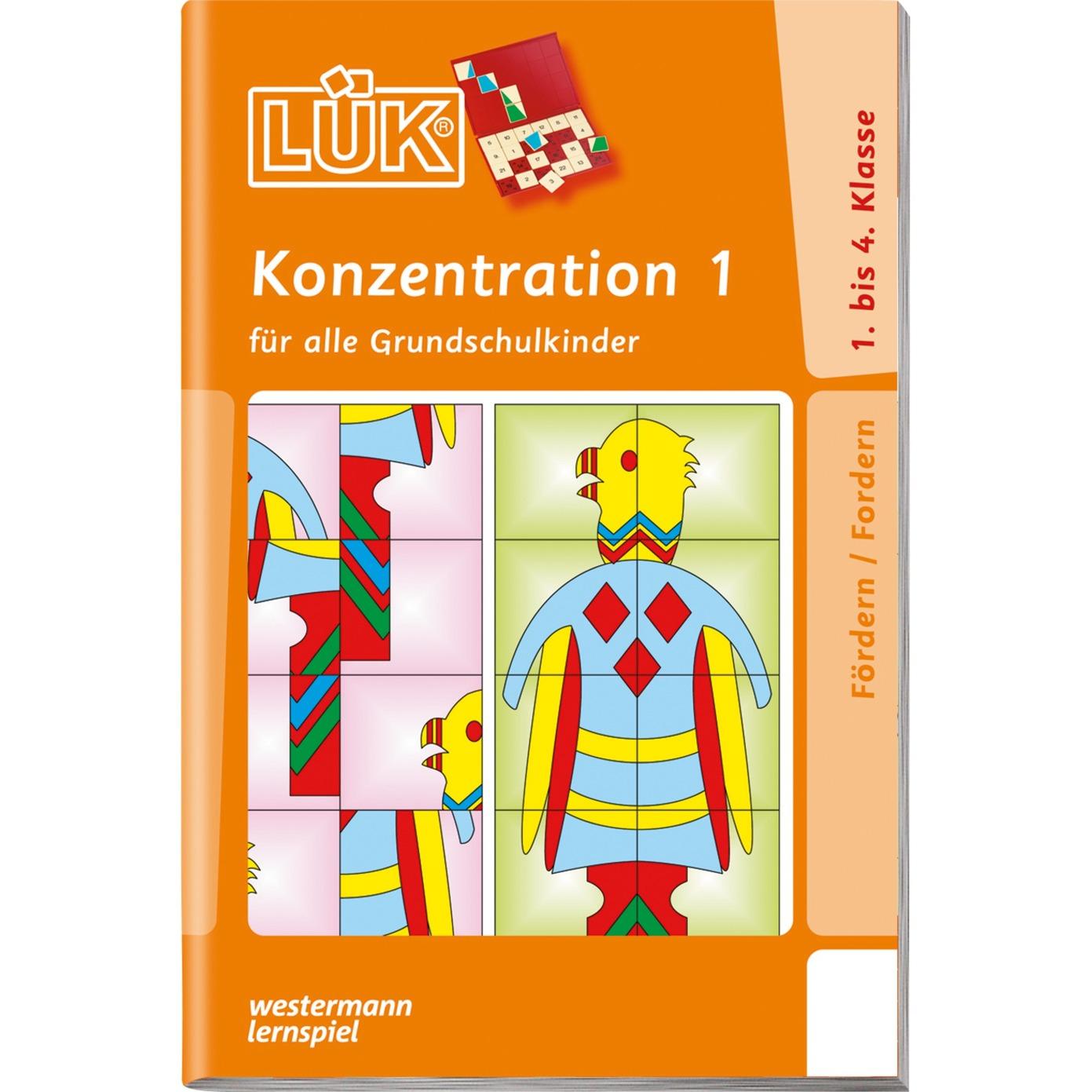 Konzentration 1 livre pour enfants, Manuel