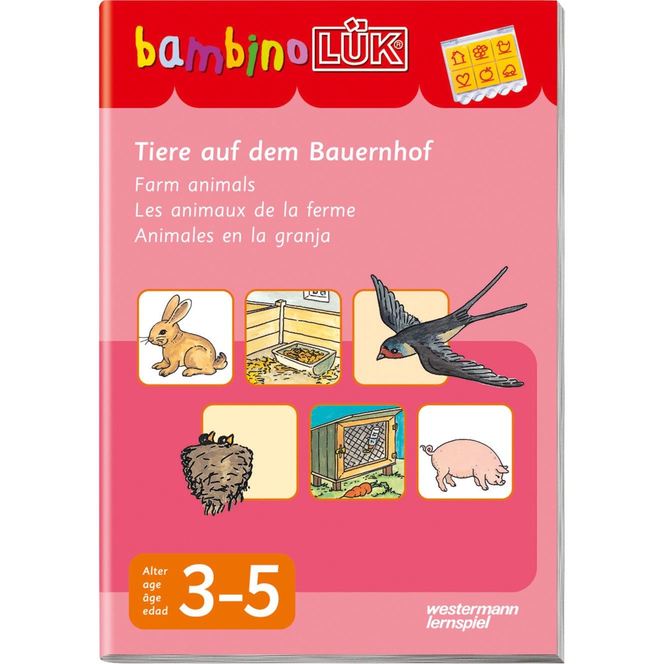 Tiere auf dem Bauernhof livre pour enfants, Manuel