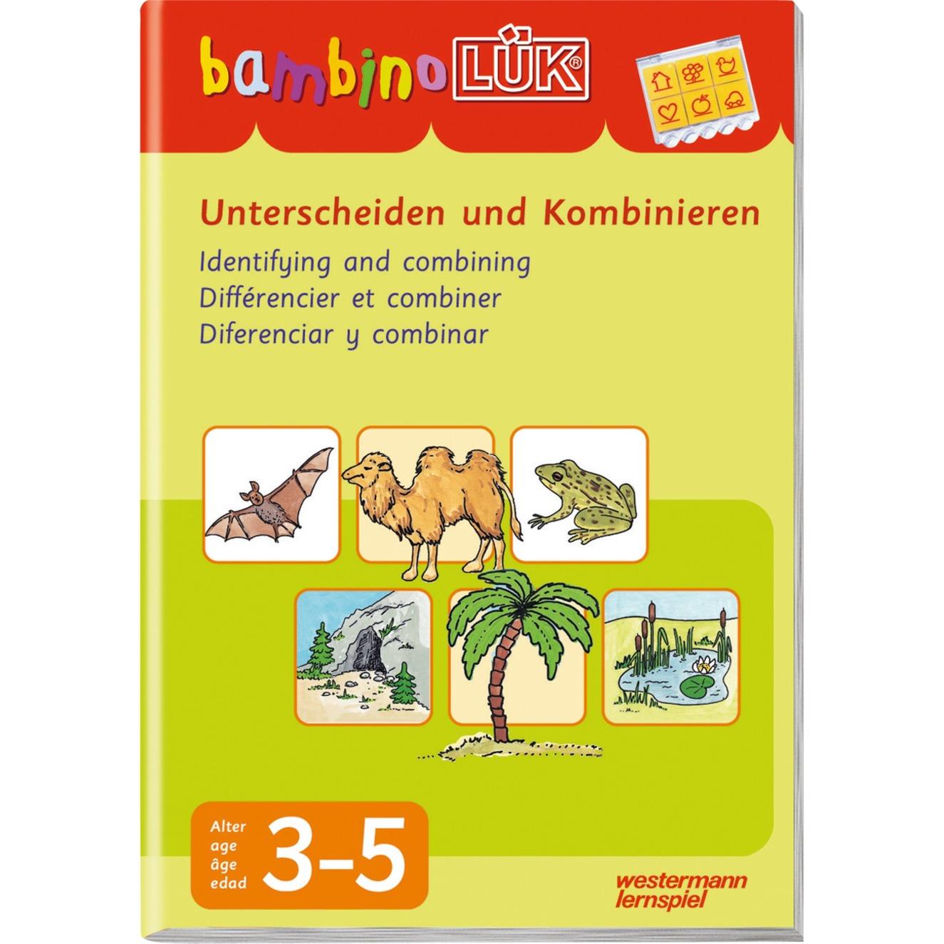 Unterscheiden und Kombinieren livre pour enfants, Manuel