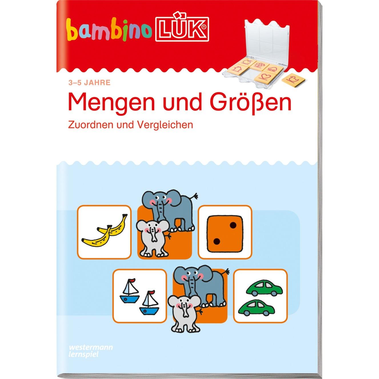 bambinoLÜK Mengen, Größen vergleichen livre pour enfants, Manuel