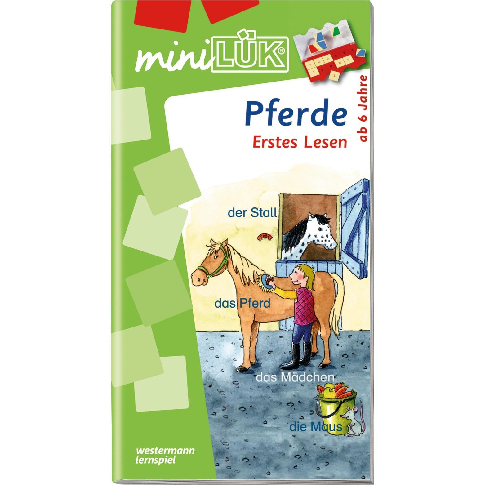 miniLÜK Pferde Erstes Lesen Elementares Lernen für Kinder ab 6 Jahren livre pour enfants, Manuel
