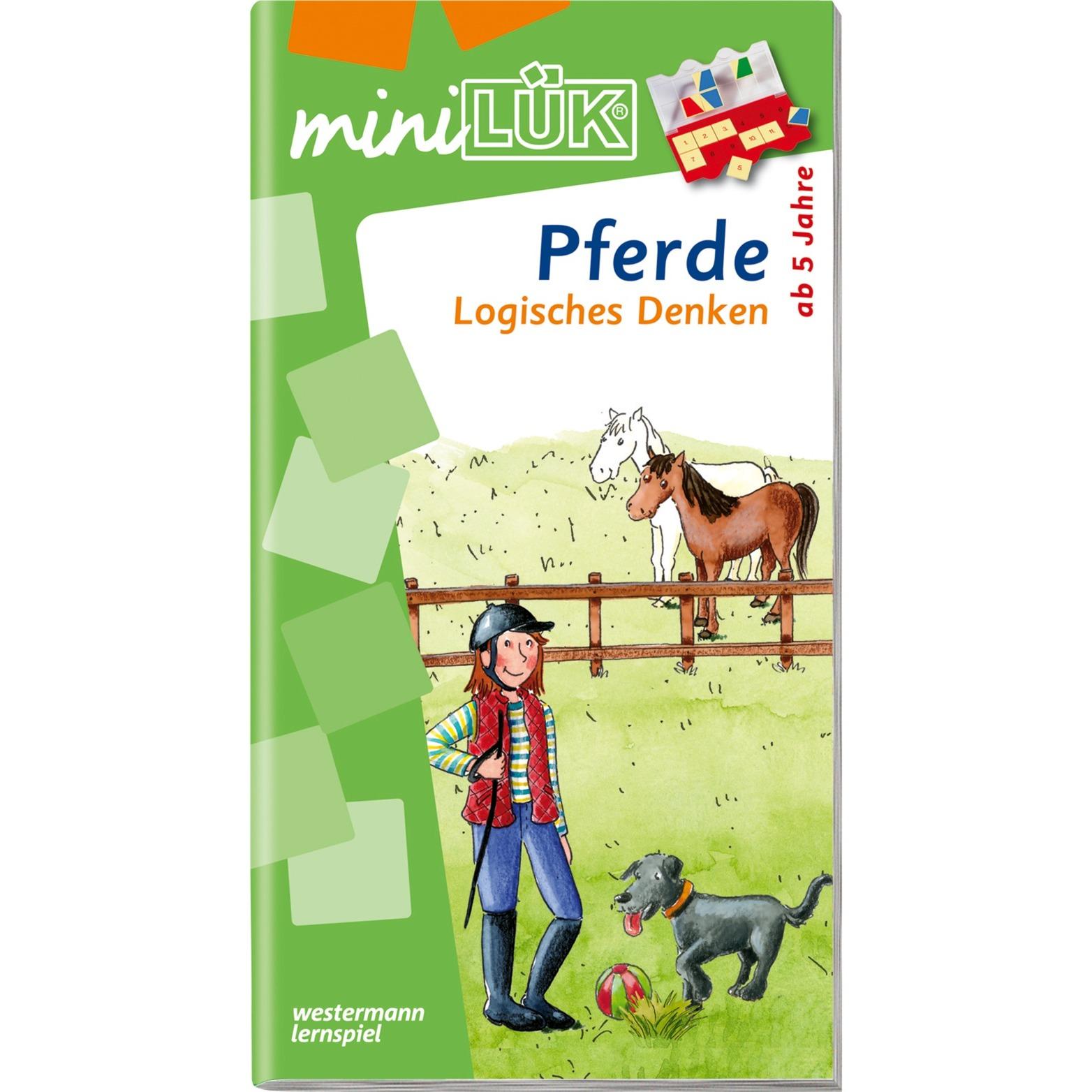 miniLÜK Pferde Logisches Denken Elementares Lernen für Kinder ab 5 Jahren livre pour enfants, Manuel