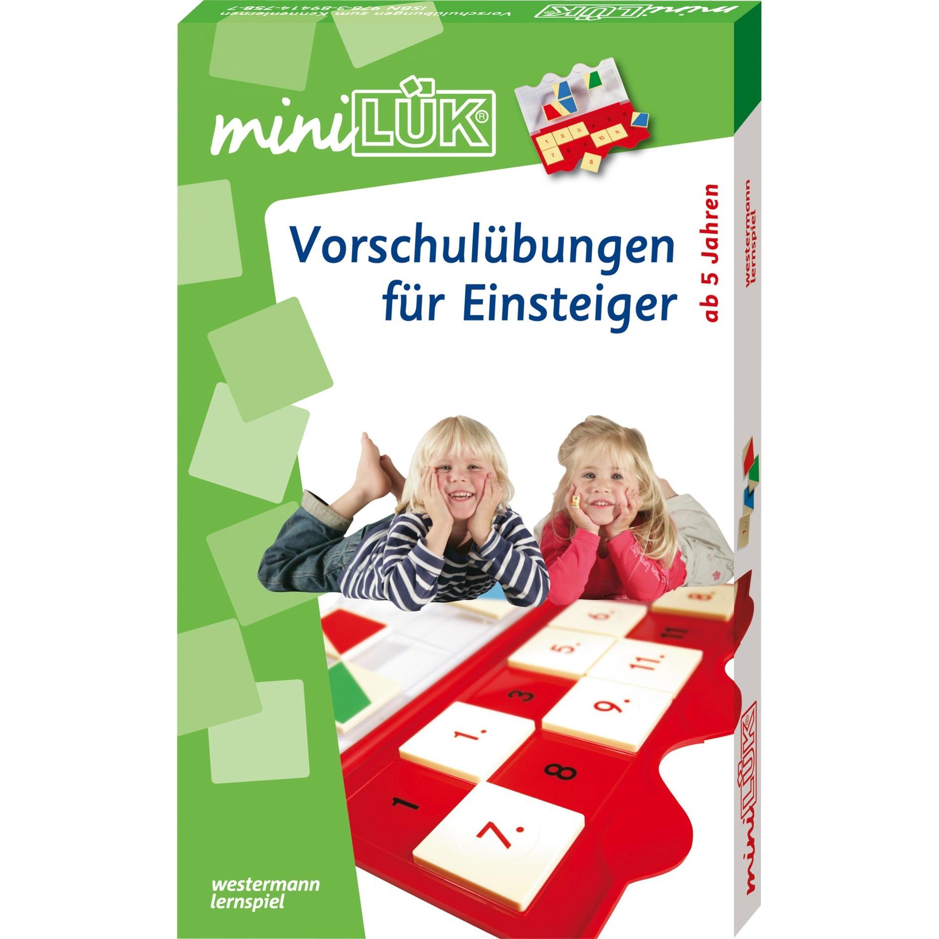 mini-Set Vorschulübungen für Einsteiger livre pour enfants, Manuel