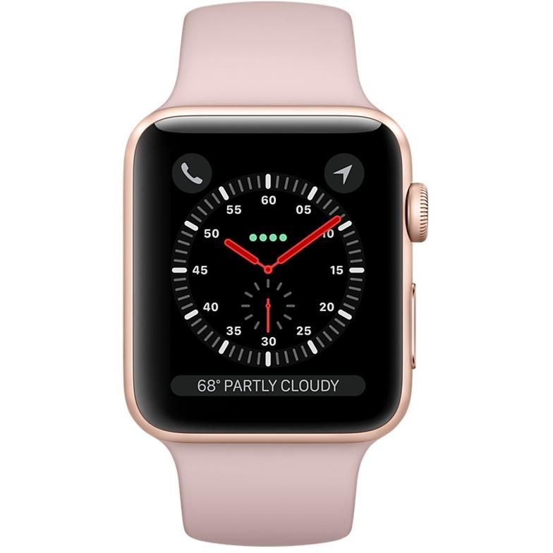 Watch Series 3 OLED GPS (satellite) Display diagonal Argent montre intelligente, Smartwatch