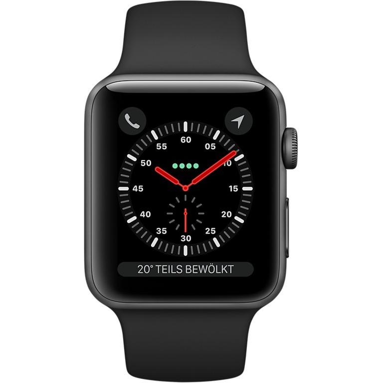 Watch Series 3 OLED GPS (satellite) Display diagonal Gris montre intelligente, Smartwatch