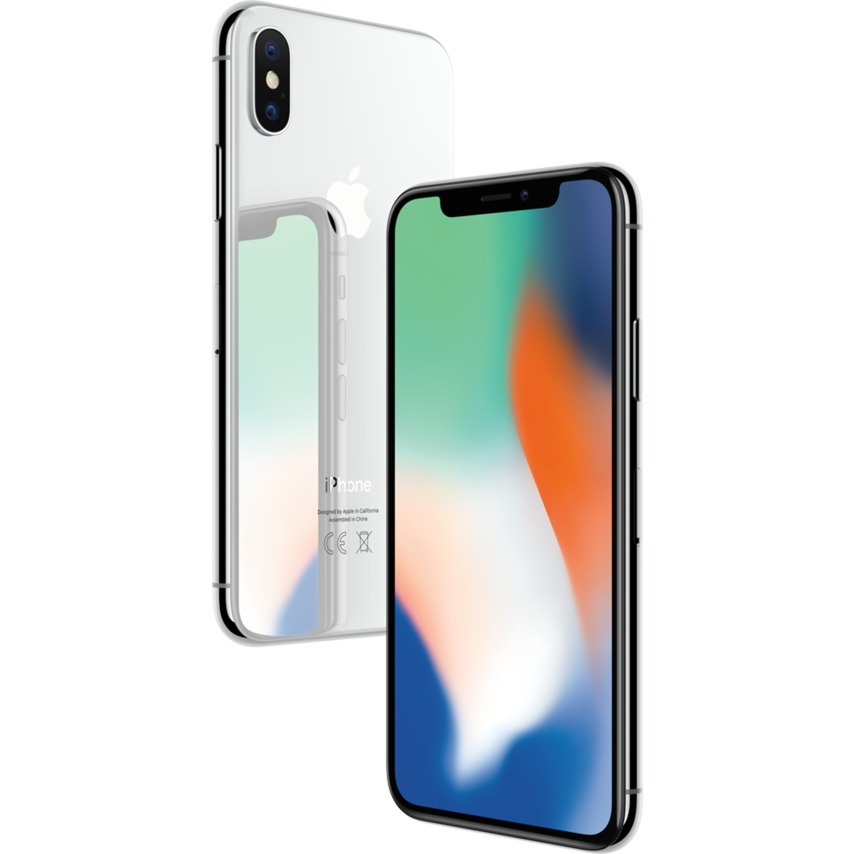 iPhone X SIM unique 4G 256Go Argent, Mobile