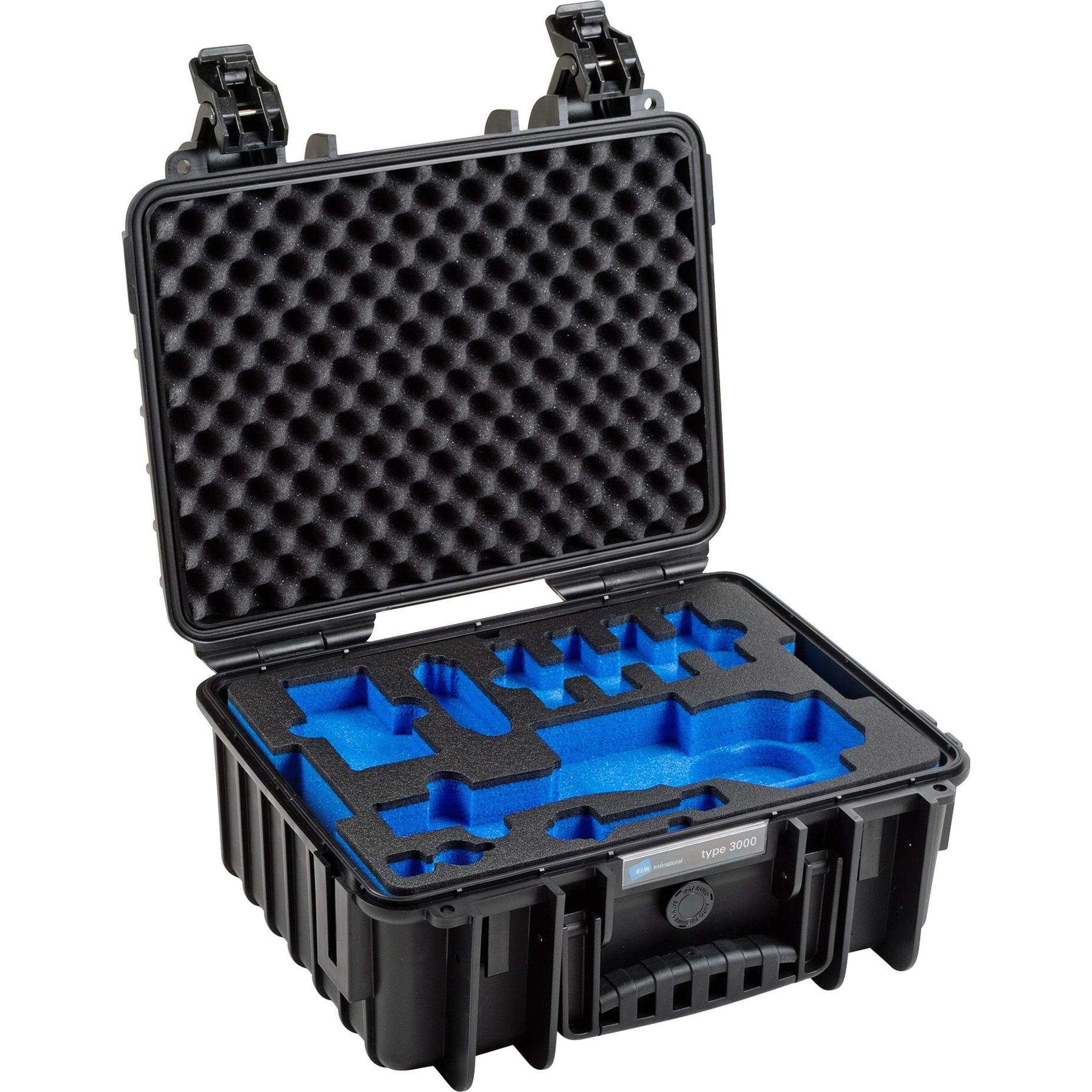 3000/B/OSMOPL Caisse rigide Noir étui et housse d'appareils photo, Valise