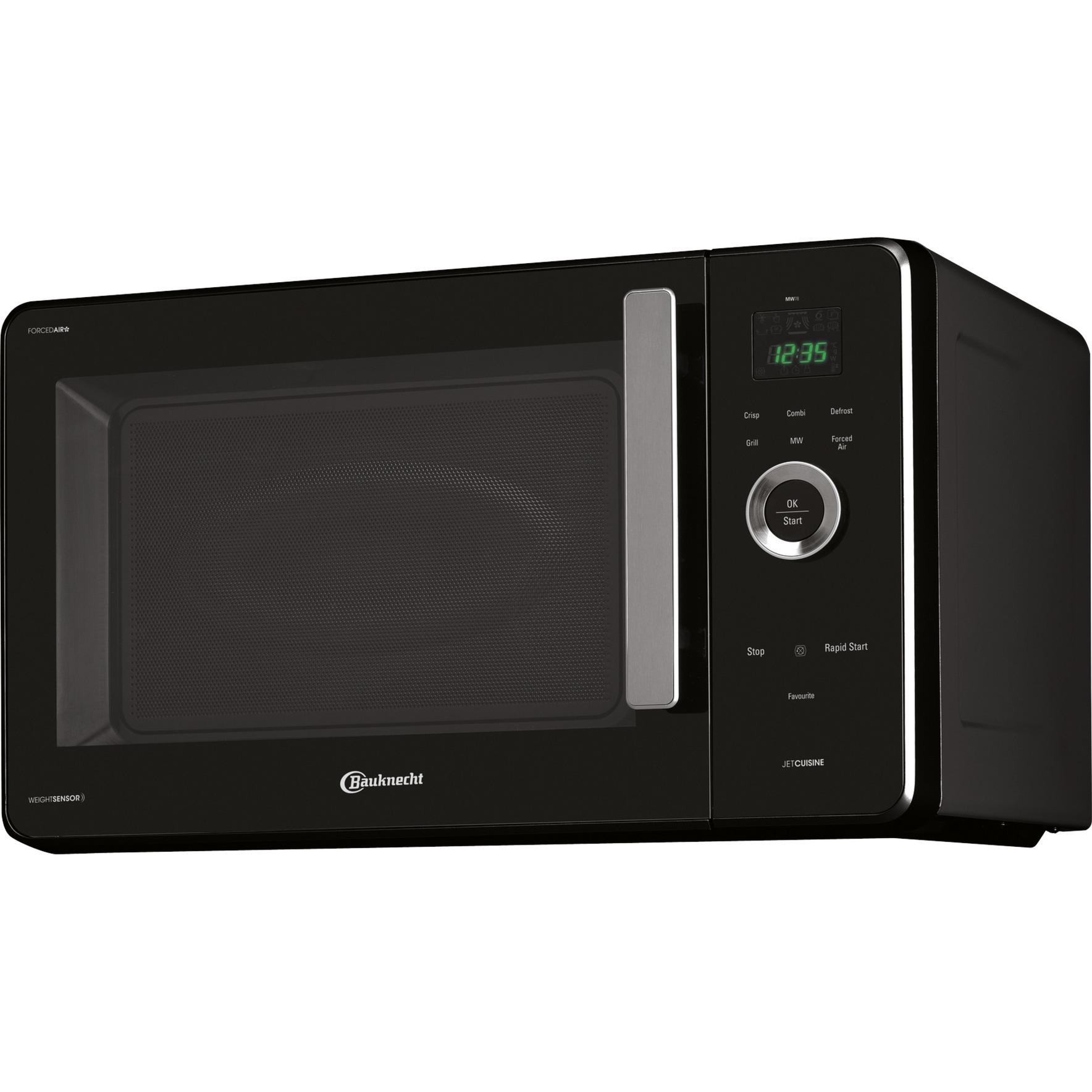 MW 78 SW Comptoir Micro-onde combiné 30L 1000W Noir, Argent micro-onde, Four à micro-ondes