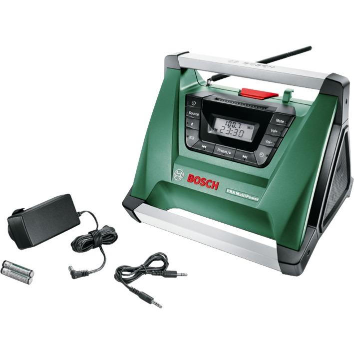 PRA MultiPower Portable Noir, Vert, Acier inoxydable Radio portable