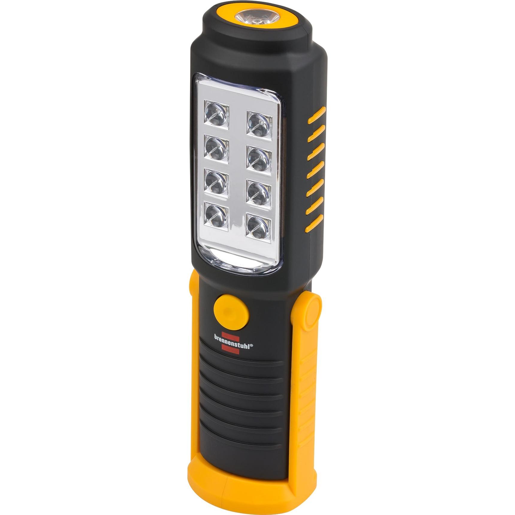 1175410010 Lampe torche LED Noir, Jaune torche et lampe de poche