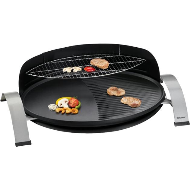 6589 2300W Noir barbecue et grill