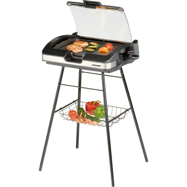 6720 2200W Noir barbecue et grill