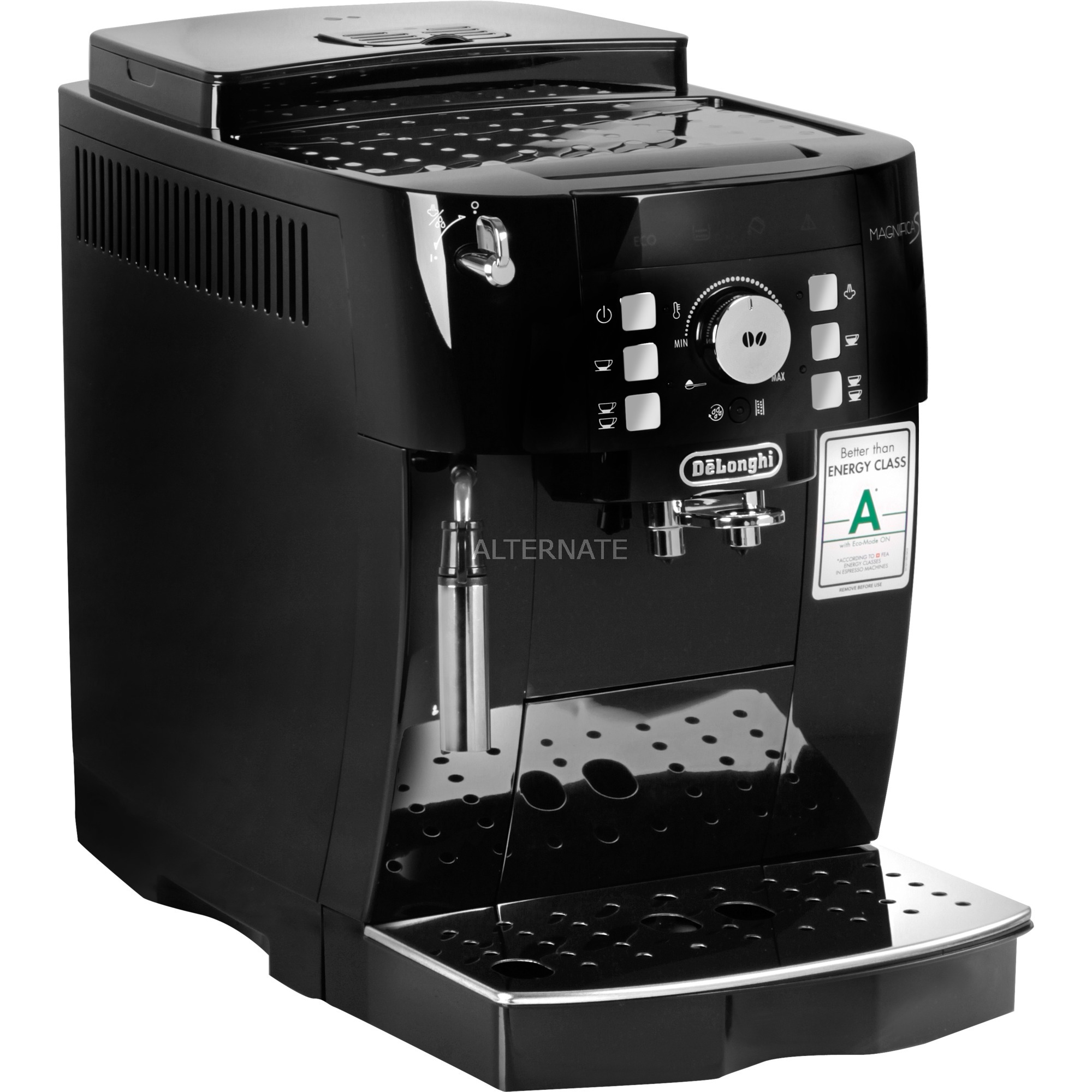 Magnifica S ECAM 21.117.B Autonome Entièrement automatique Machine à expresso 1.8L 14tasses Noir, Machine à café/Espresso
