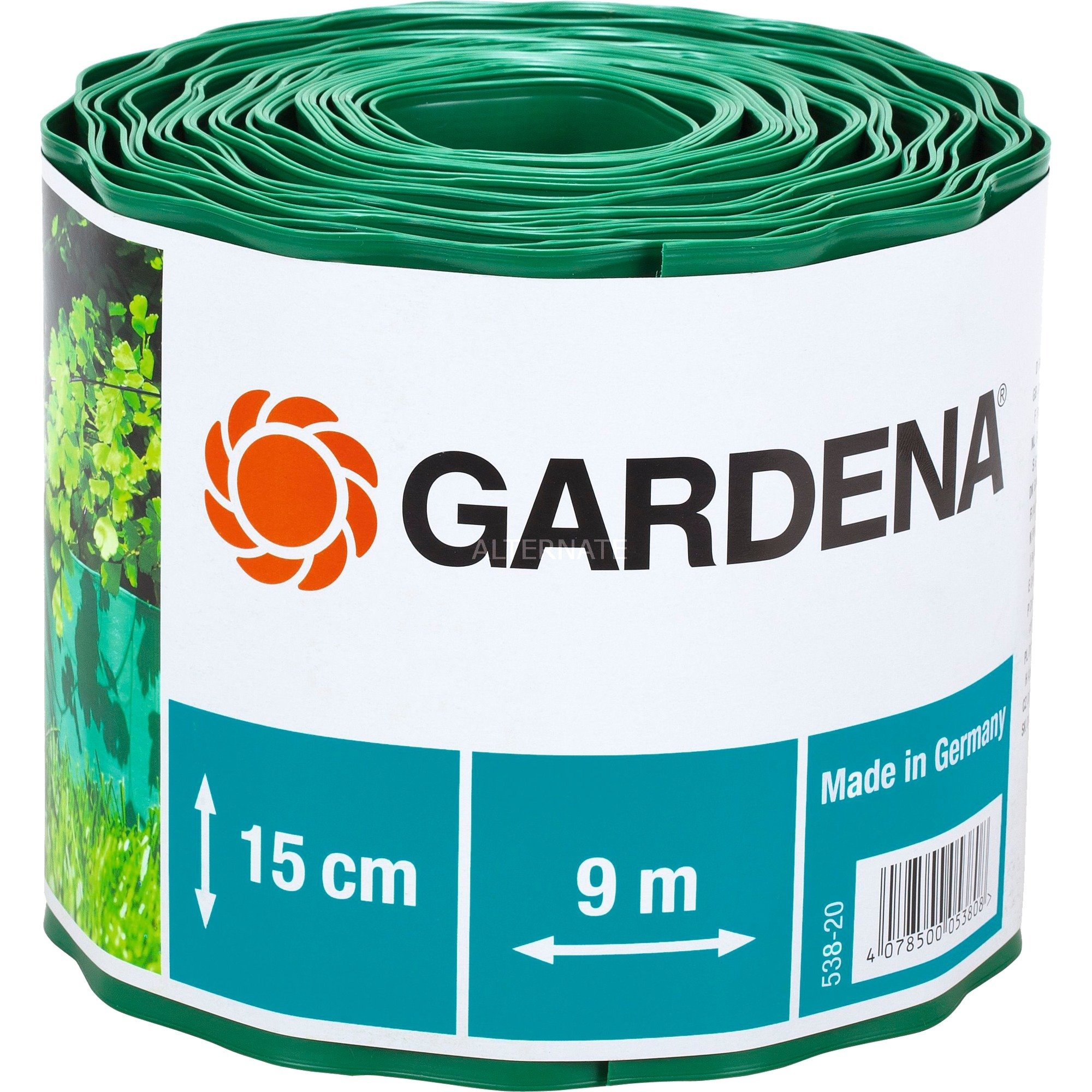 538 20 Bordure De Jardin Rouleau De Bordure De Jardin Plastique Vert Barrière Vert Rouleau De Bordure De Jardin Plastique Vert 150 Mm 9 M 1