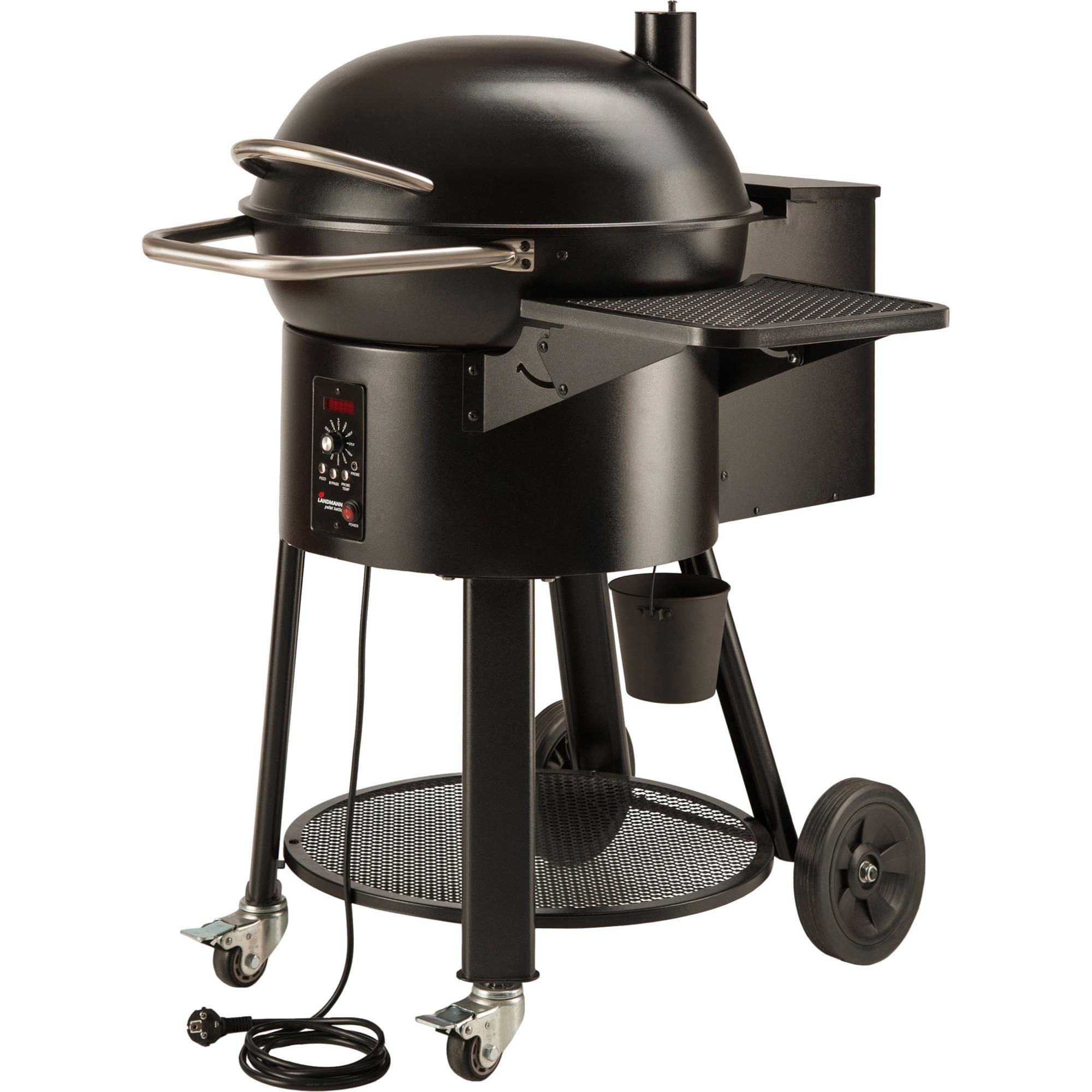 landmann pellet kettle grill chaudron electrique noir, barbecue noir