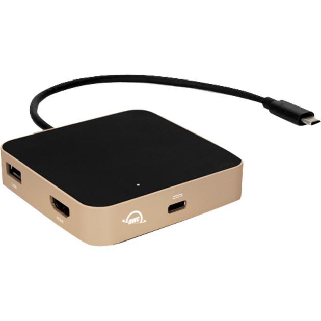 OWCTCDK5PGD USB 3.0 (3.1 Gen 1) Type-A Noir, Or station d'accueil