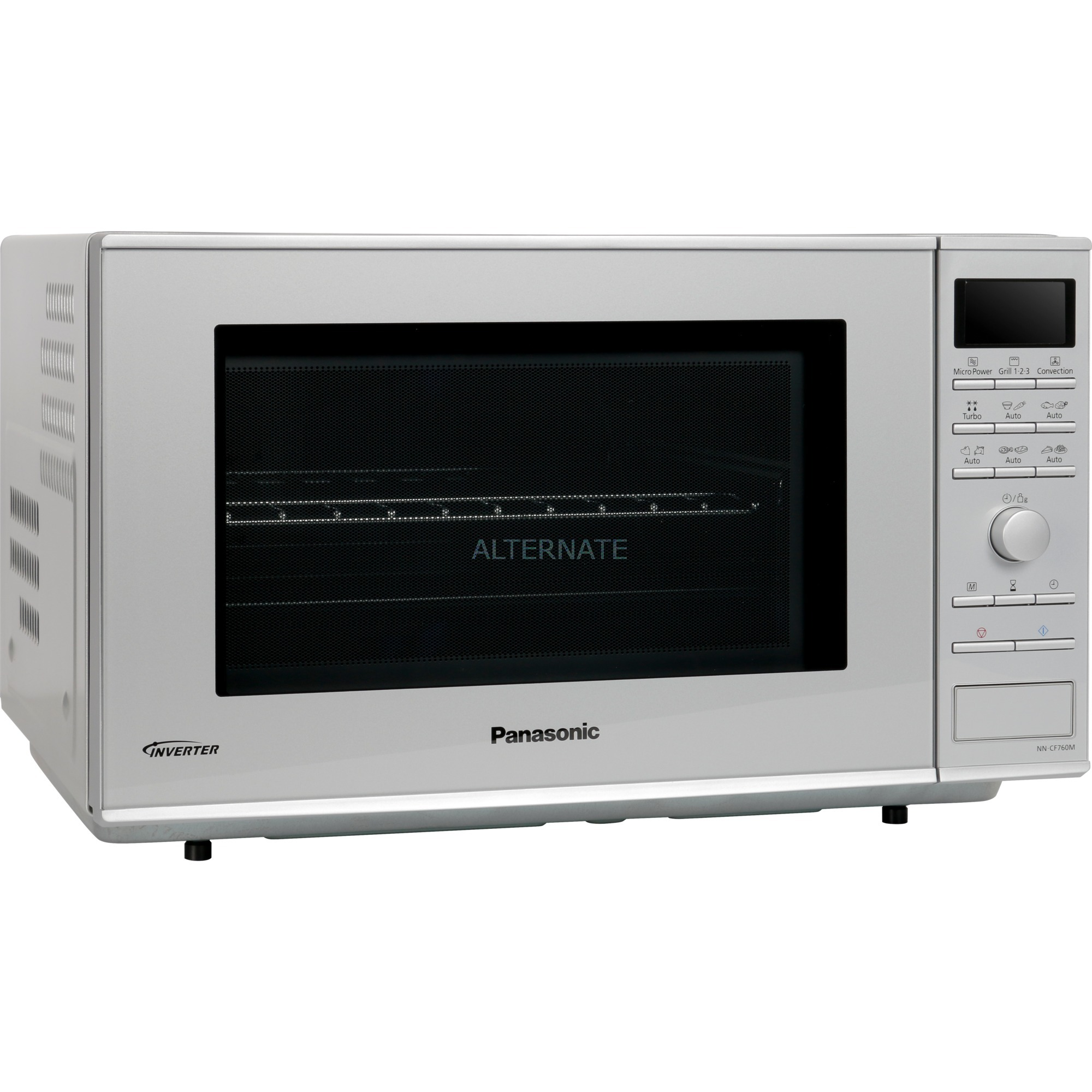 NN-CF760M 27L 1000W Acier inoxydable, Four à micro-ondes