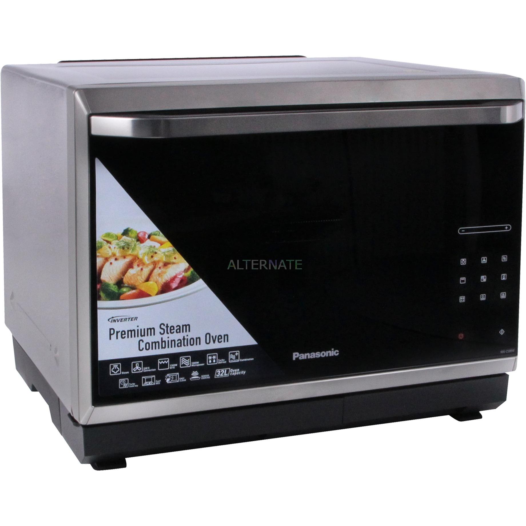 NN-CS894S Comptoir Micro-onde combiné 32L 1000W Noir, Acier inoxydable, Four à micro-ondes