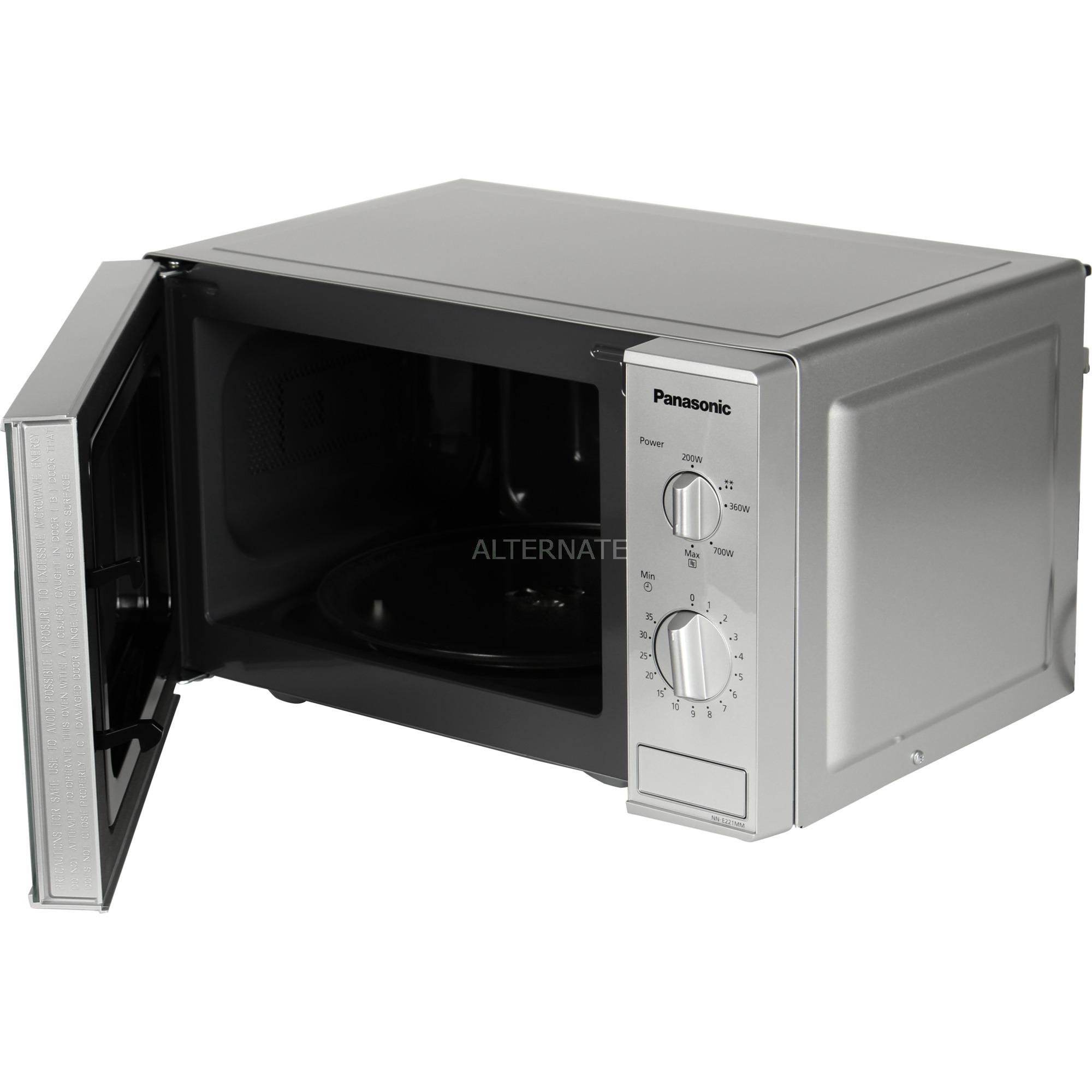 NN-E221M Comptoir Micro-ondes uniquement 20L 800W Gris micro-onde, Four à micro-ondes