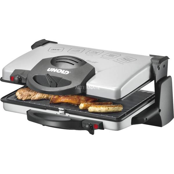 8555 Grille double-contact Dessus de table Electrique 2100W Noir, Argent barbecue et grill, Grill à contact